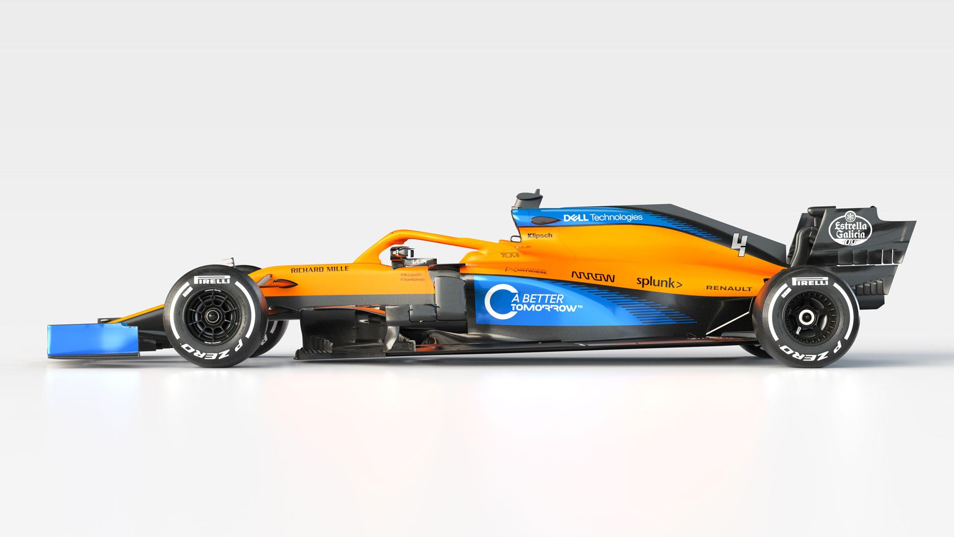 F1-auto van 2020 McLaren MCL35