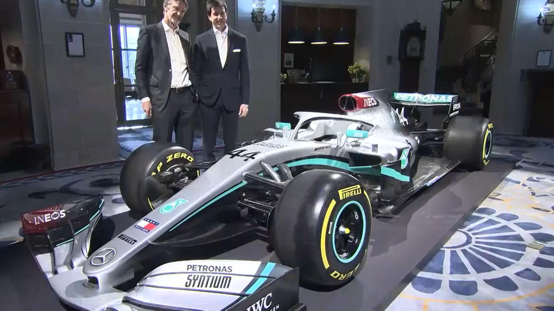Mercedes F1 livery voor 2020