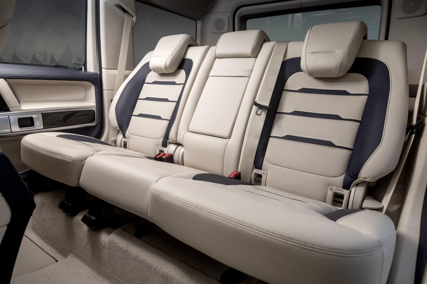 Mercedes G-Klasse Cigarette Edition interieur stoelen achter