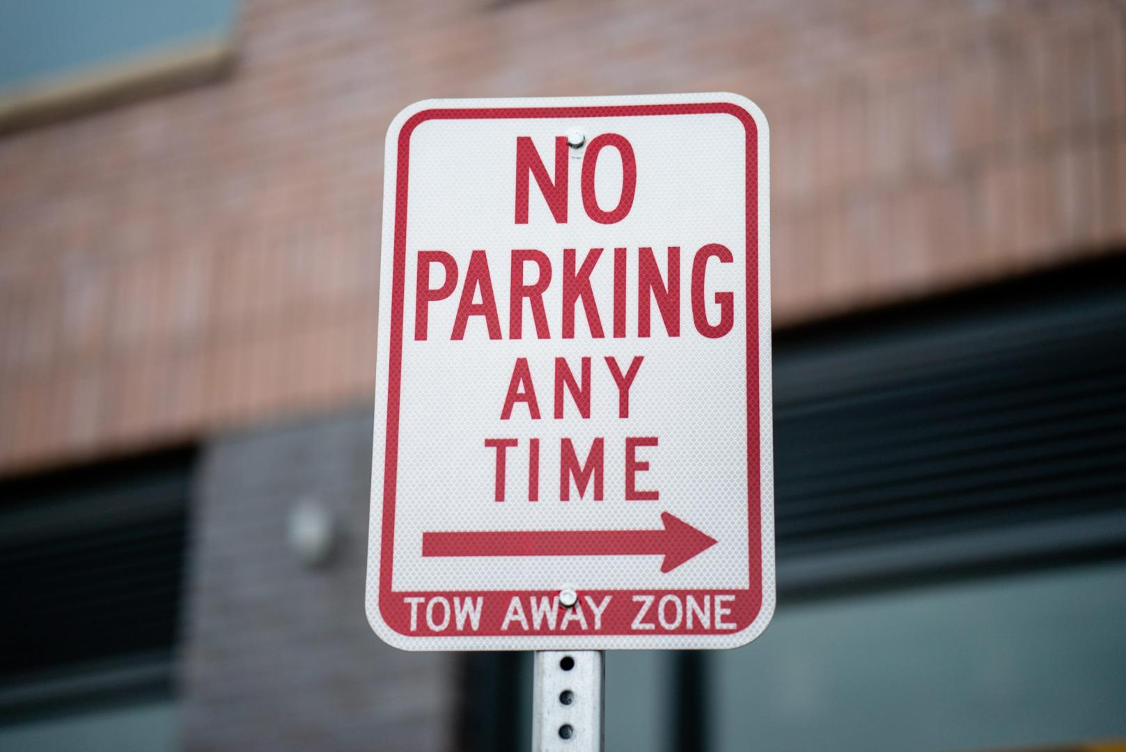 No Parking - parkeerverbod parkeerboete