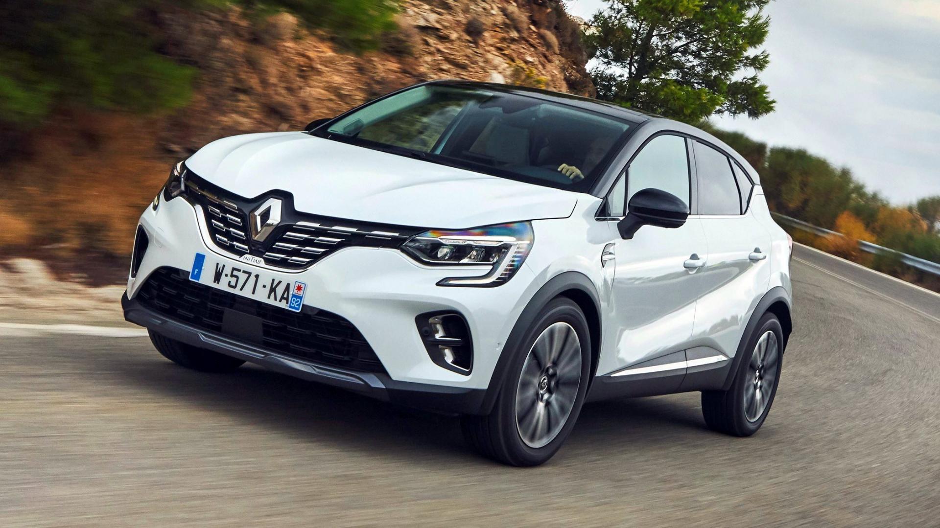 Witte Renault Captur 2020