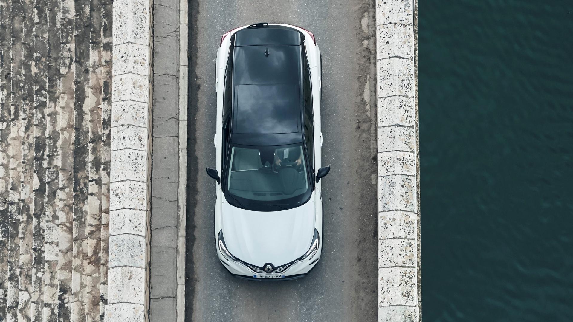 Bovenaanzicht Renault Captur