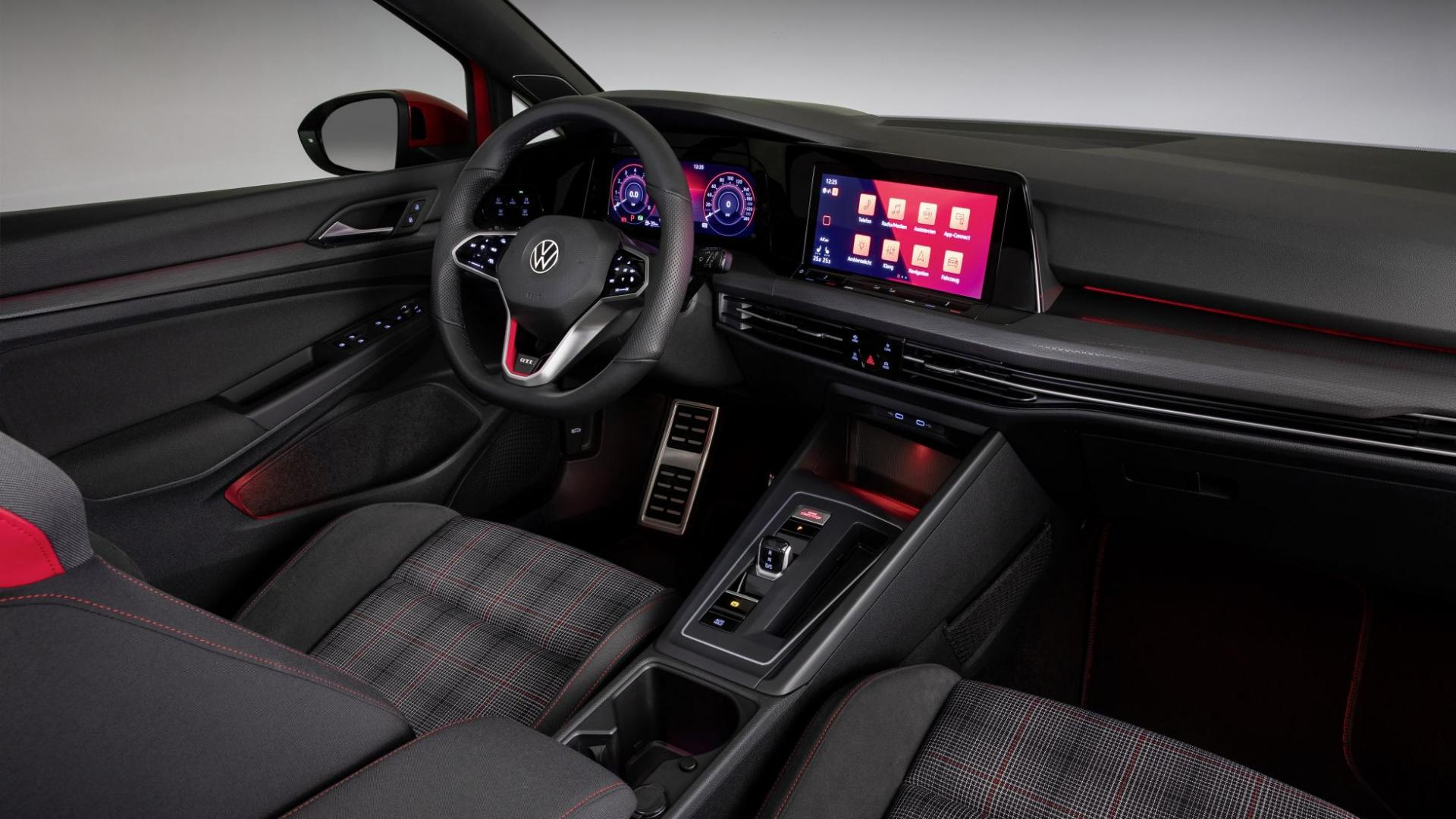 Volkswagen Golf 8 GTI 2020 interieur en dashboard