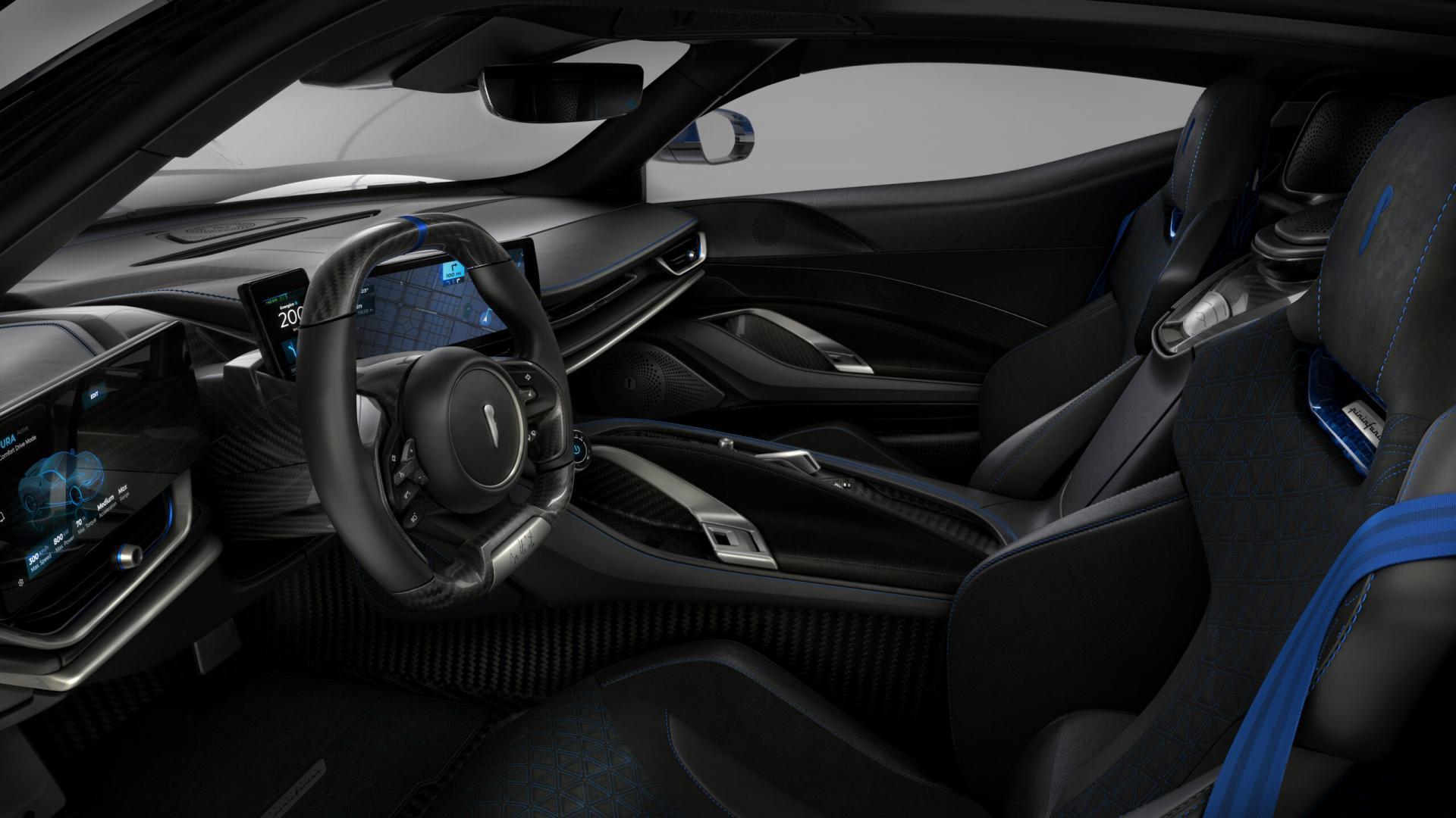 Pininfarina Battista Anniversario 2020 interieur dashboard