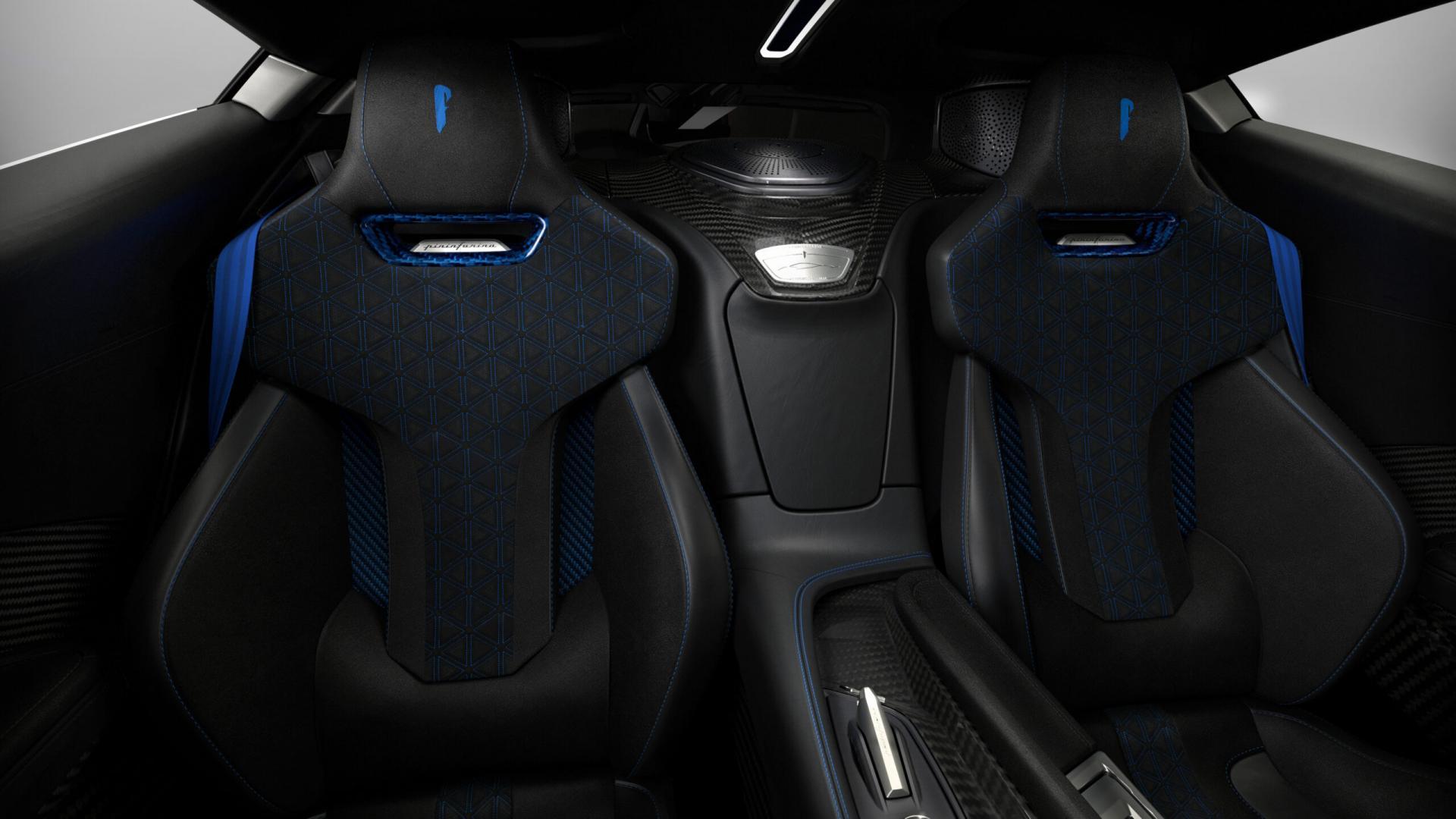 Pininfarina Battista Anniversario 2020 interieur stoelen