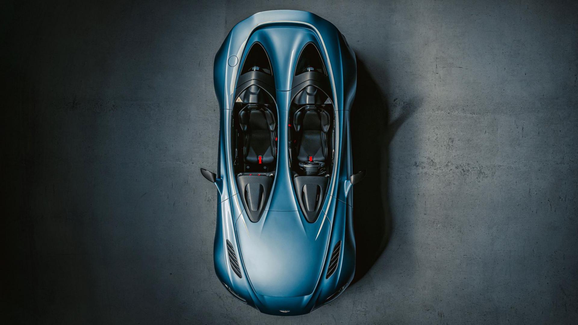 Aston Martin V12 Speedster bovenkant bovenaanzicht