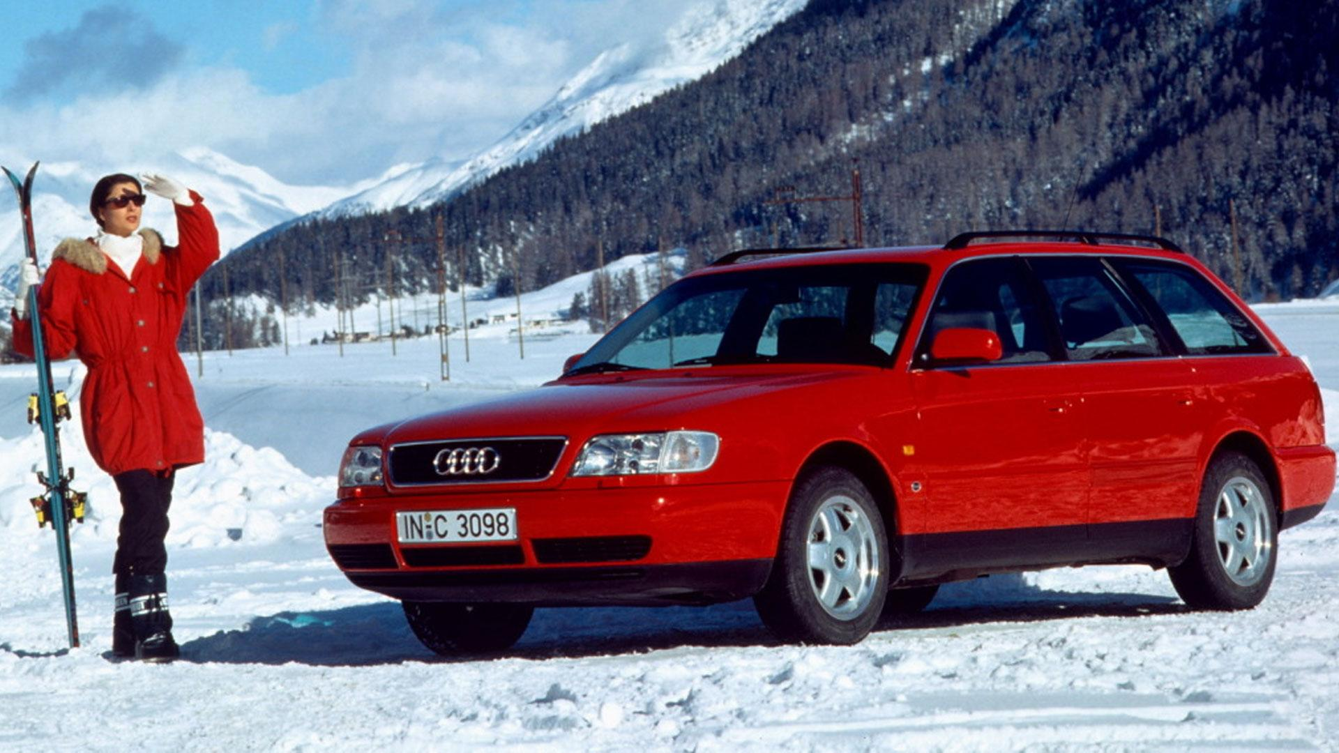Audi A6 (C4) op de piste