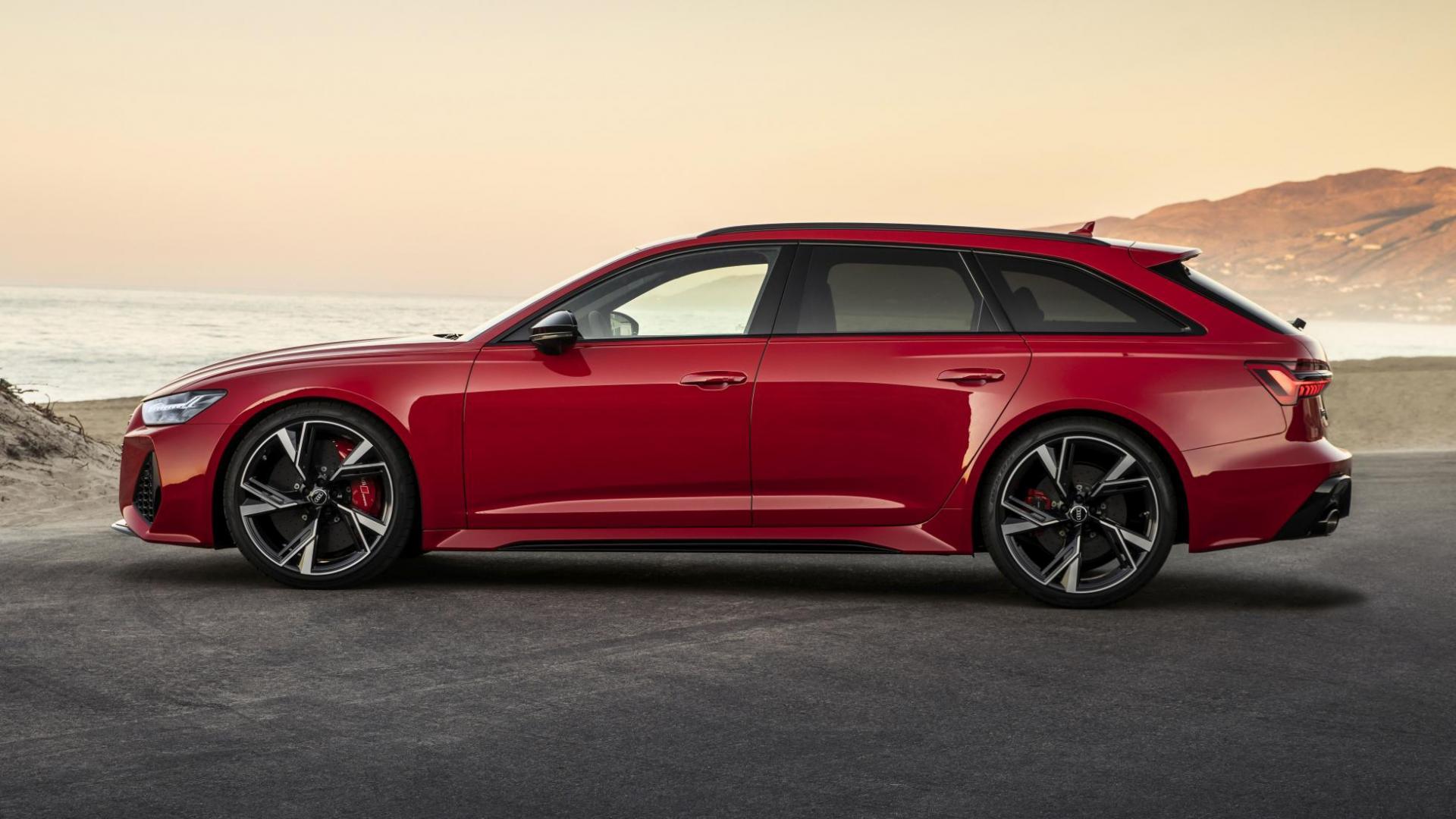 Zijaanzicht Audi RS 6 Avant C8 2020
