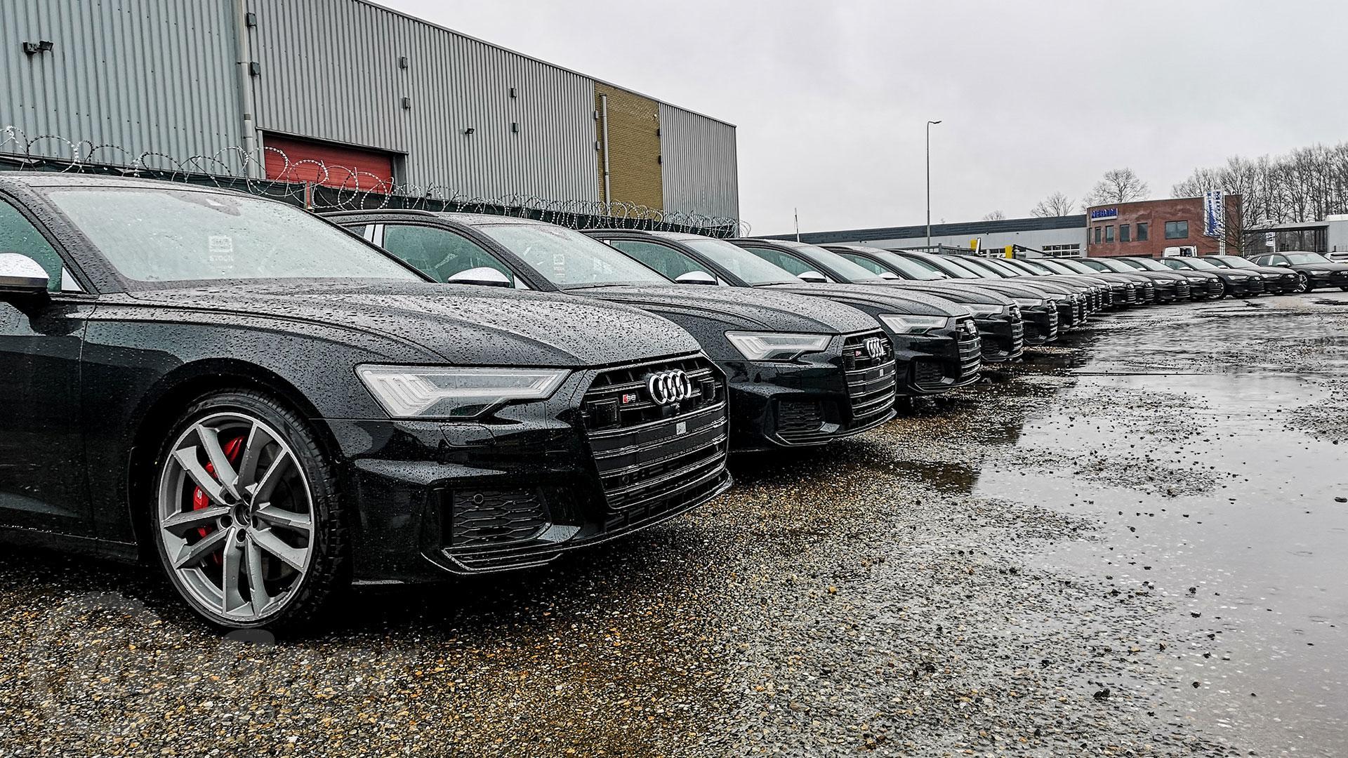 Audi S6 op een rijtje