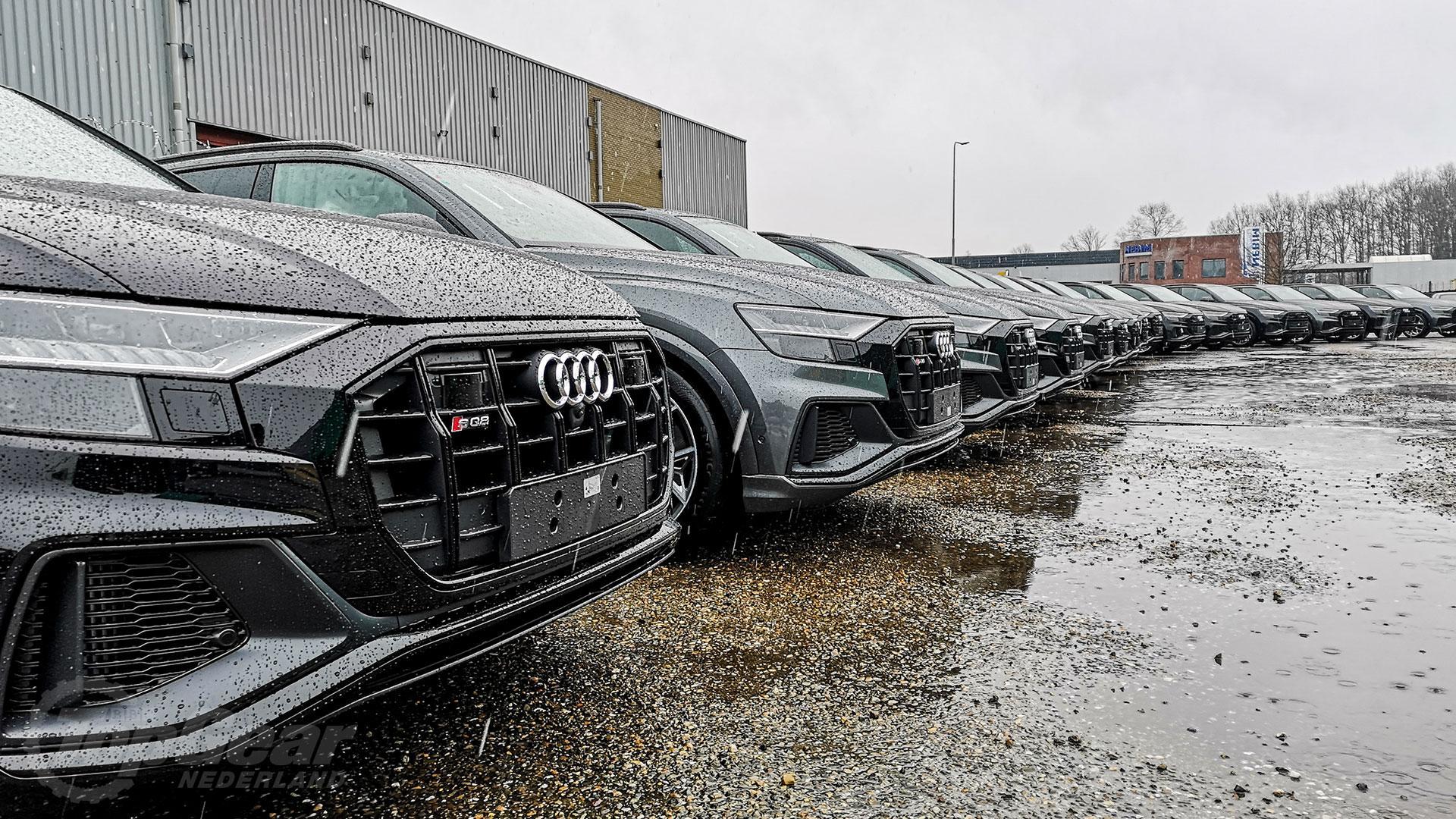 Audi SQ8 op een rijtje