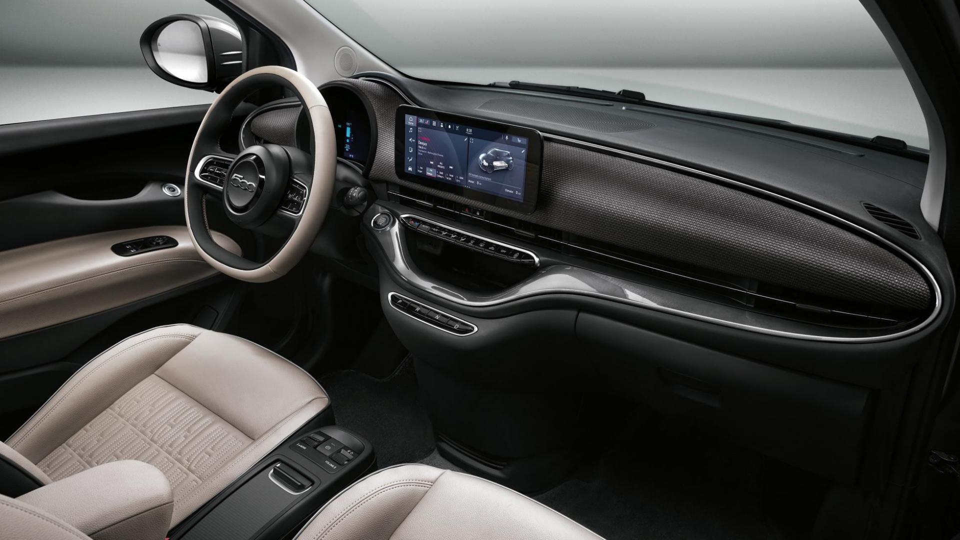 Interieur Fiat 500 elektrisch
