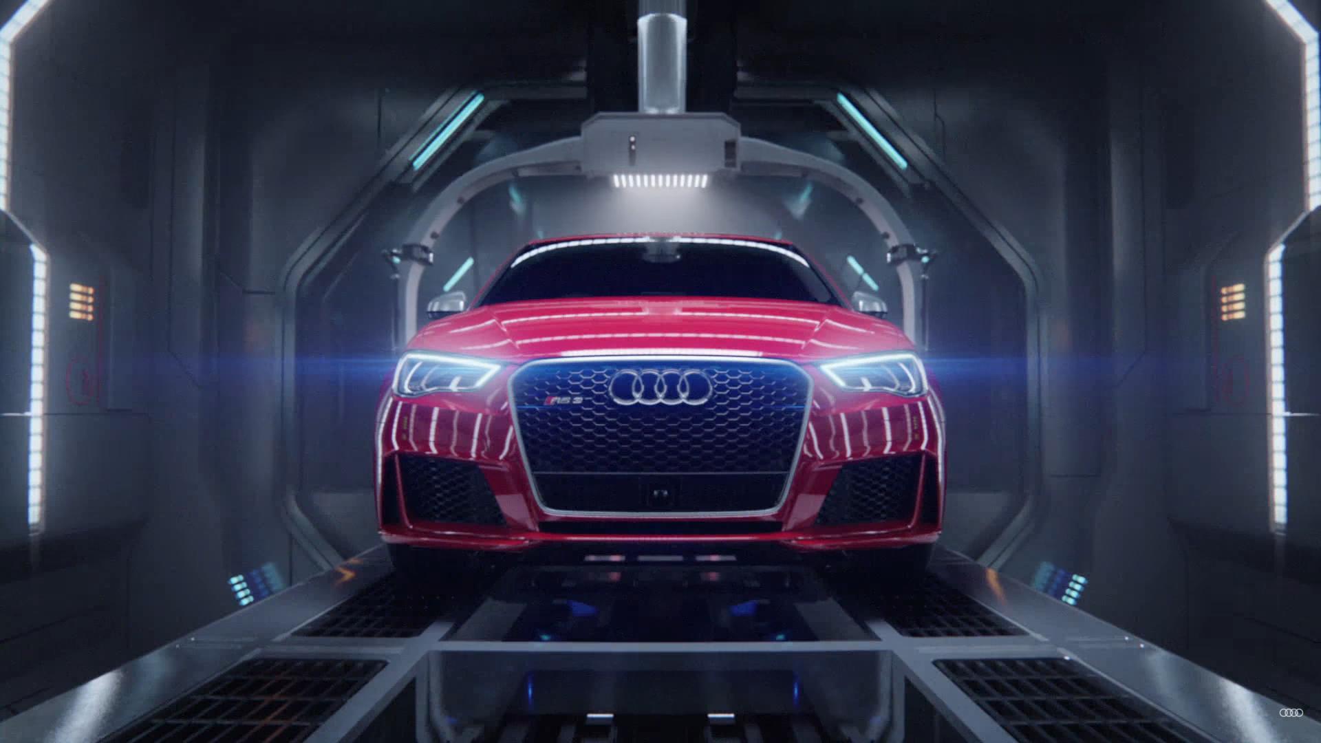 Lolreclame Audi RS3 Sportback recht voor