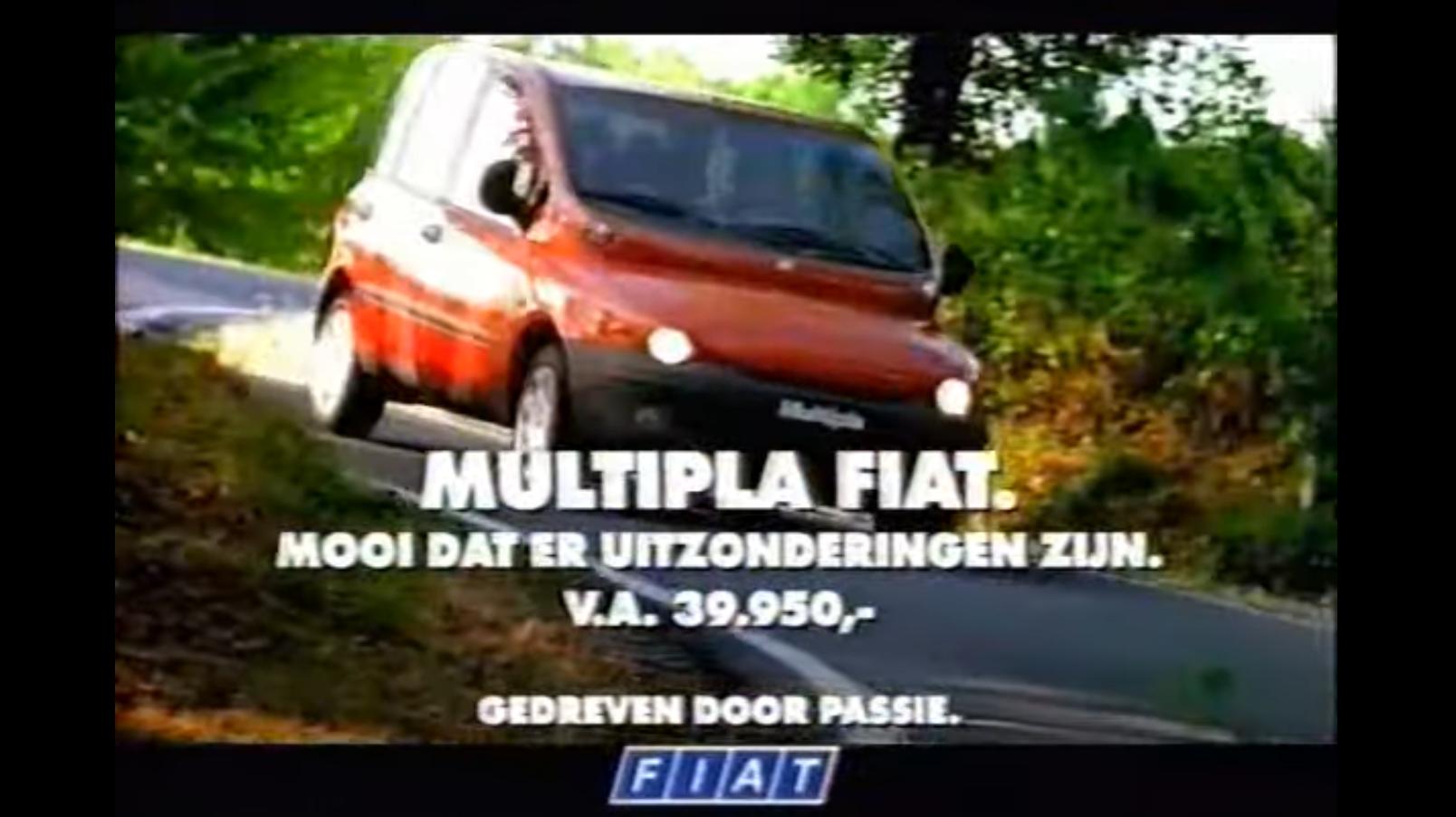 Michael Schumacher Fiat Multipla reclame auto 3 4 voor