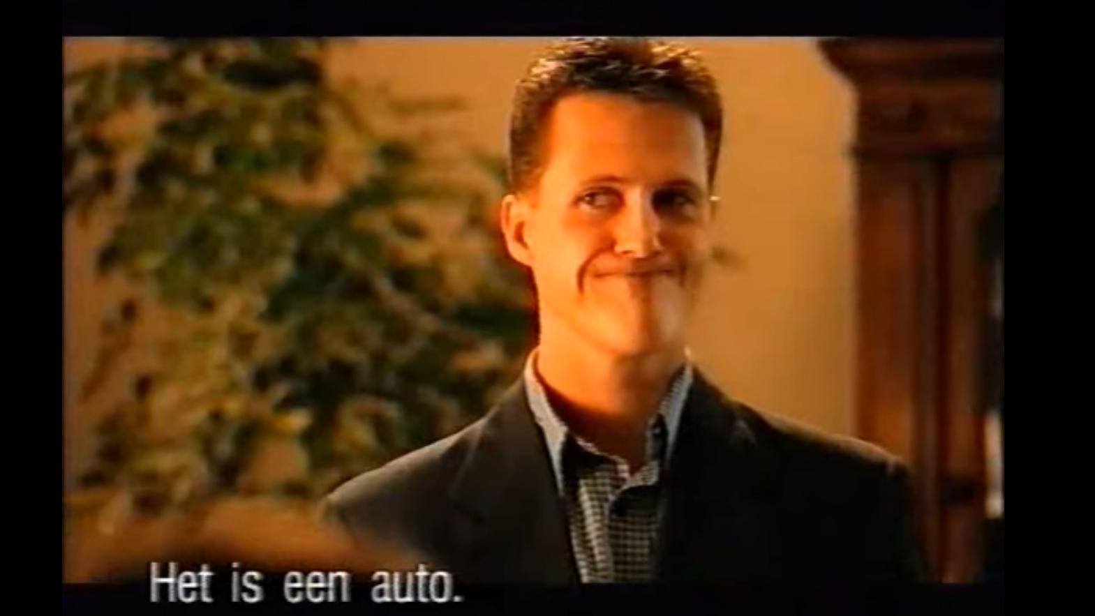Michael Schumacher Fiat Multipla reclame vragend gezicht