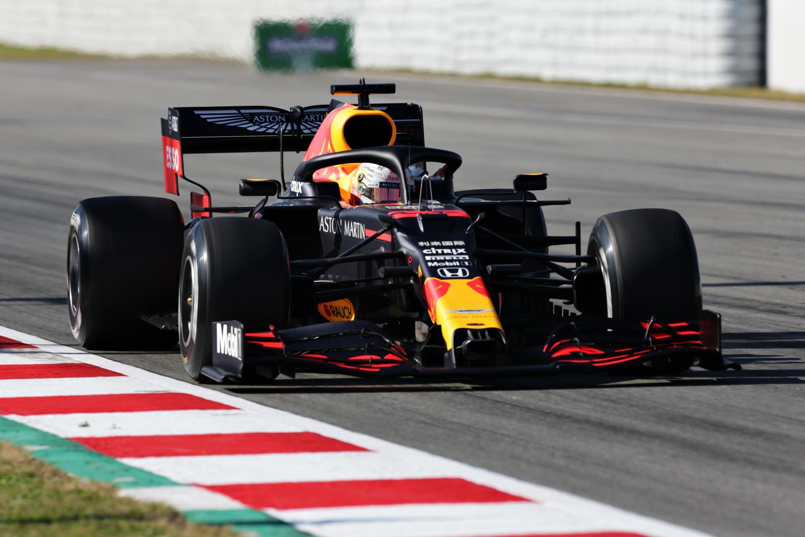 Red Bull Racing Max Verstappen tests Barcelona