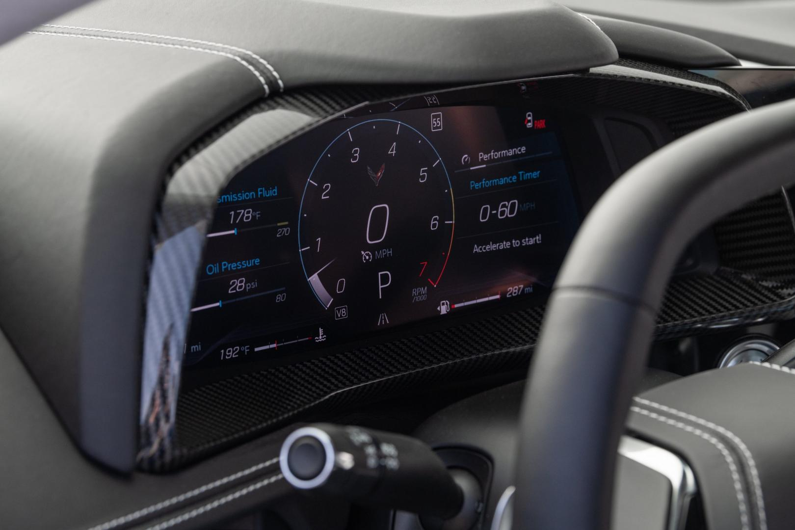 Dashboard Chevrolet Corvette C8