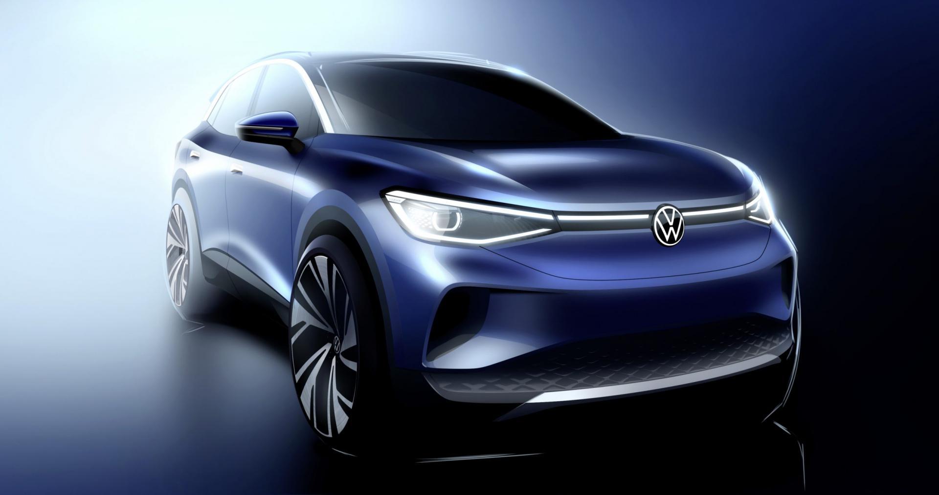 Volkswagen ID4 schets
