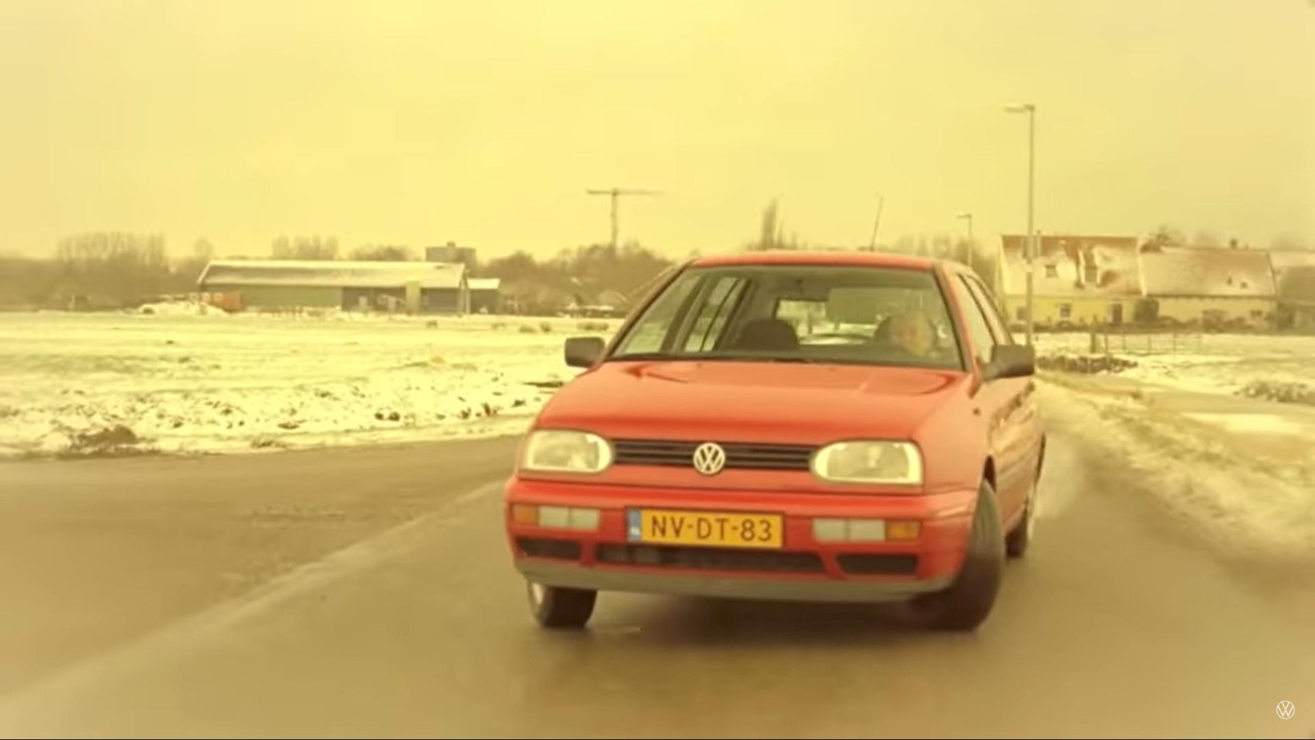 Volkswagen en het oude vrouwtje reclame drift