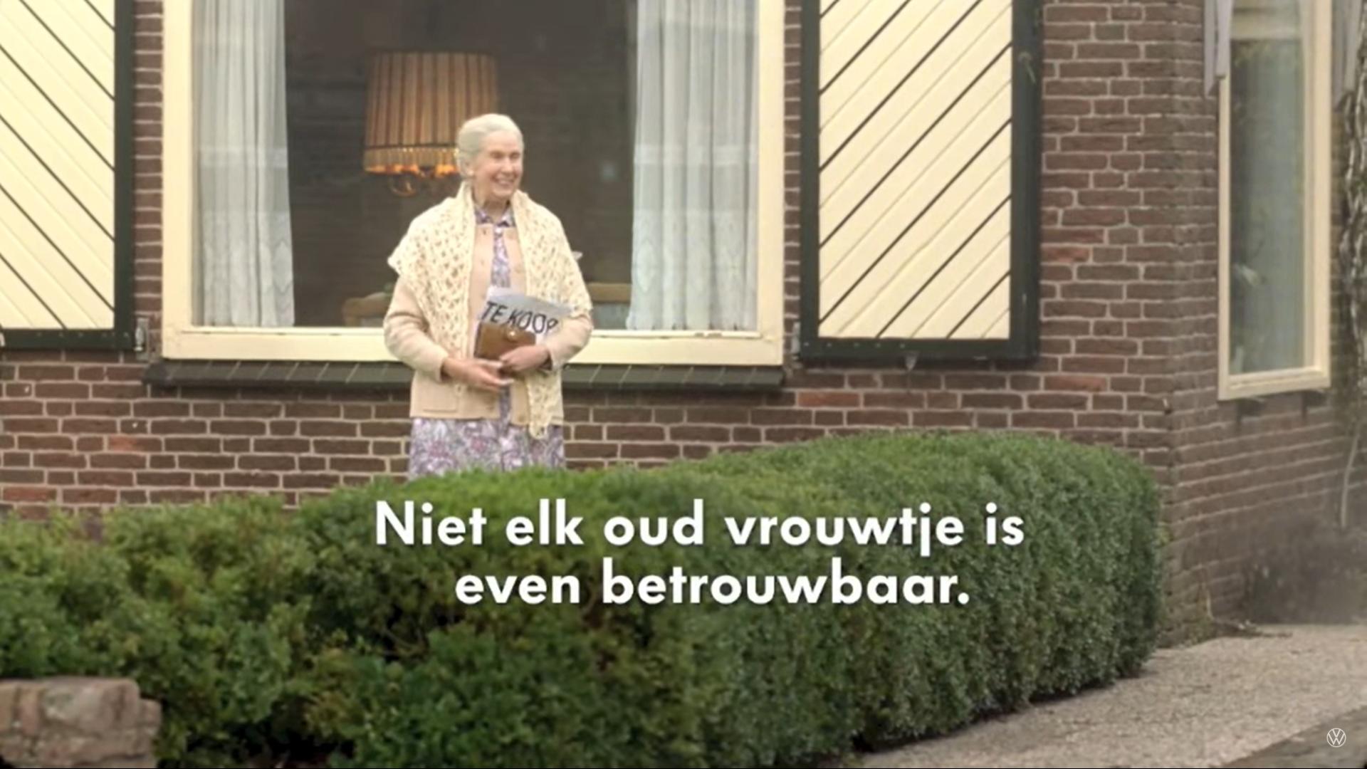 Volkswagen en het oude vrouwtje reclame slogan