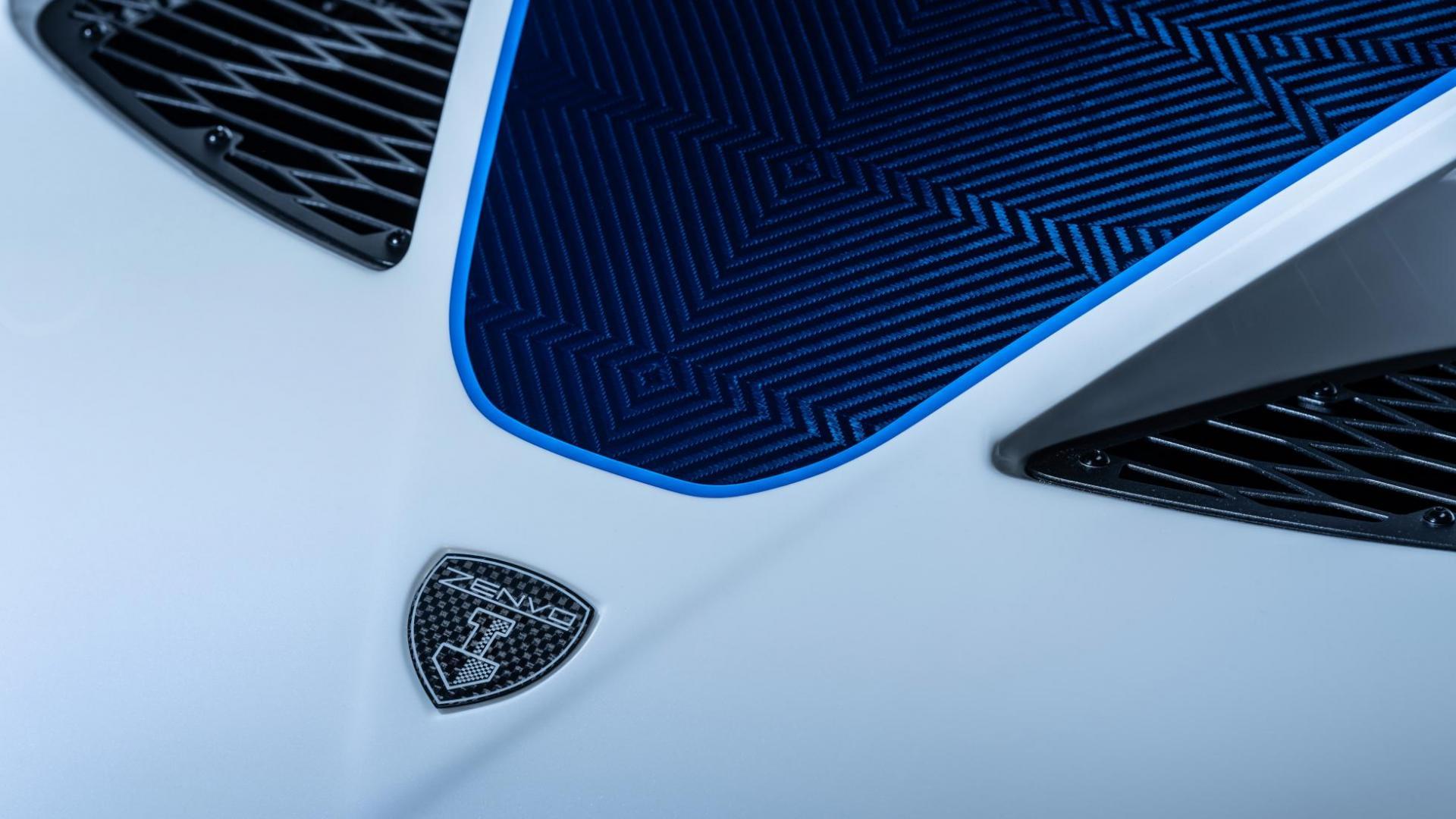 Blauw koolstofvezel Zenvo