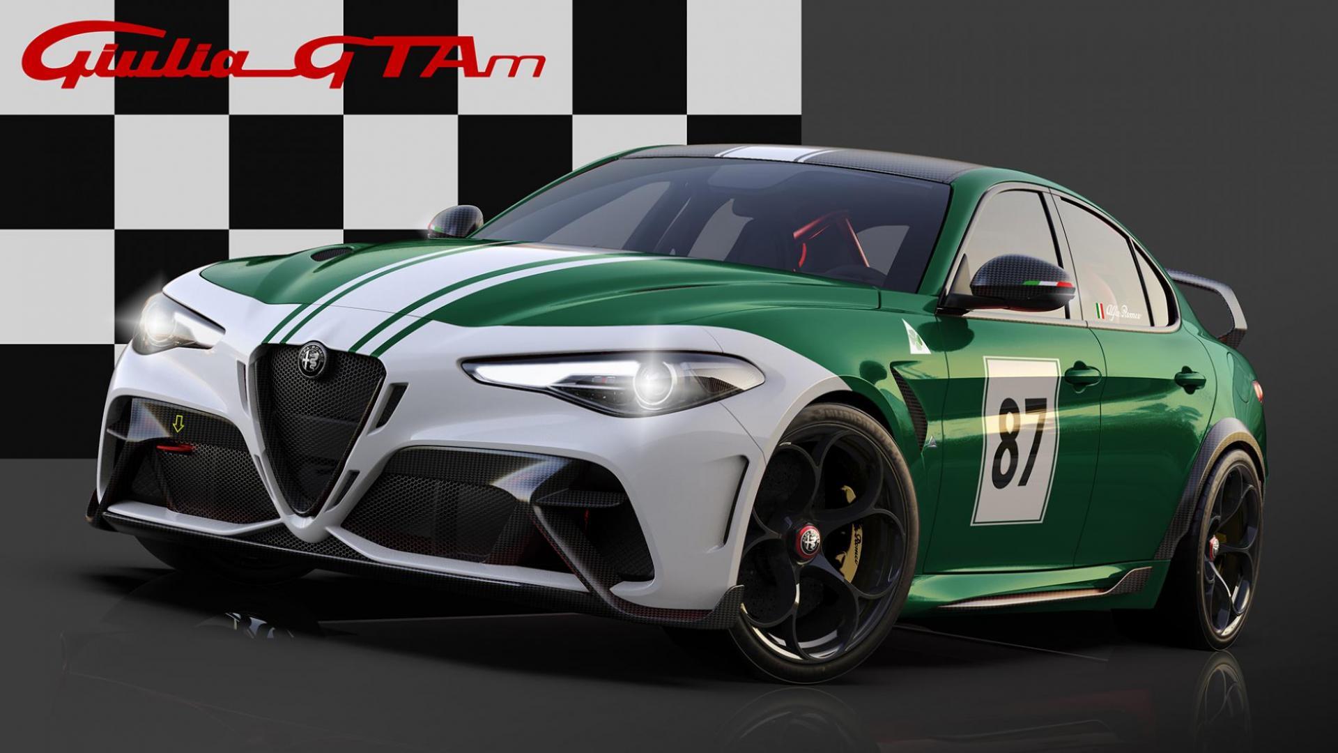 Alfa Romeo Giulia GTAm met racekleuren