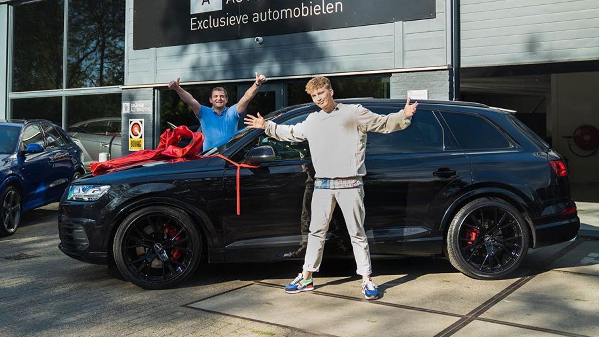 Audi SQ7 van rapper en zanger Snelle