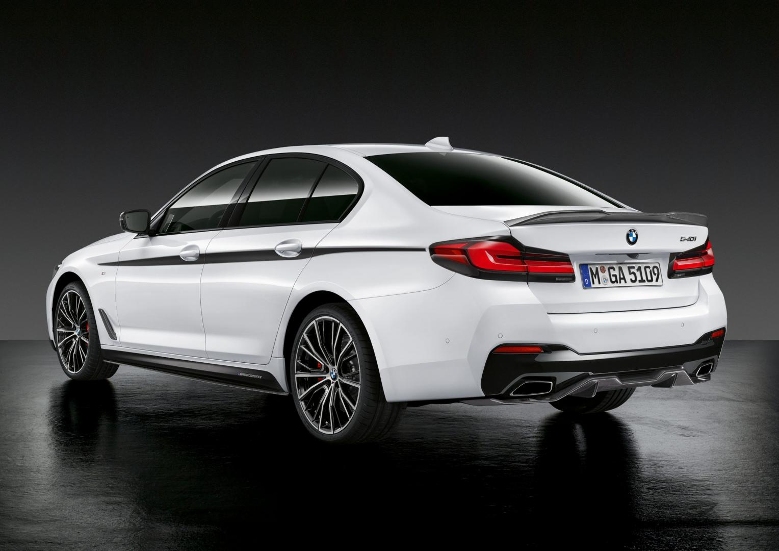 Achterkant BMW 5-serie facelift 2020