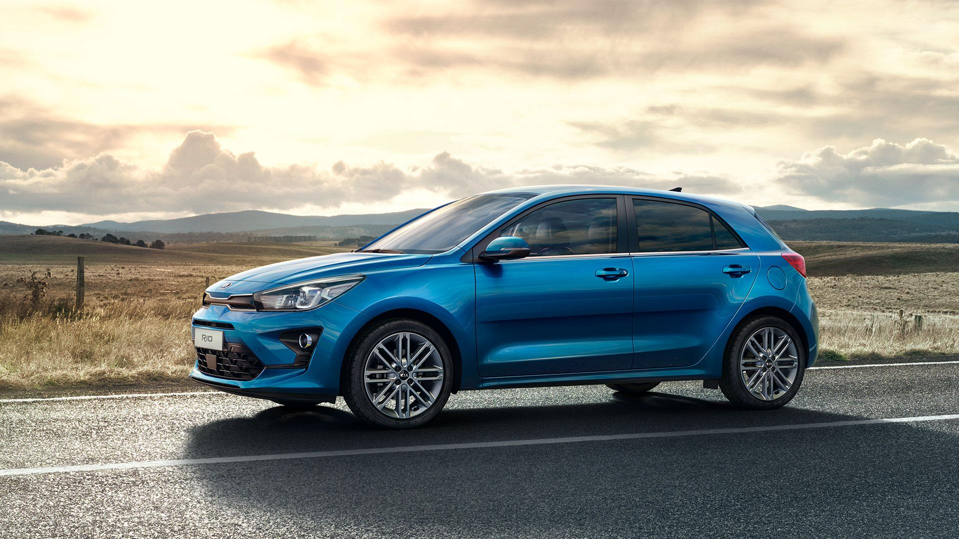 Kia Rio Facelift 2020 blauw