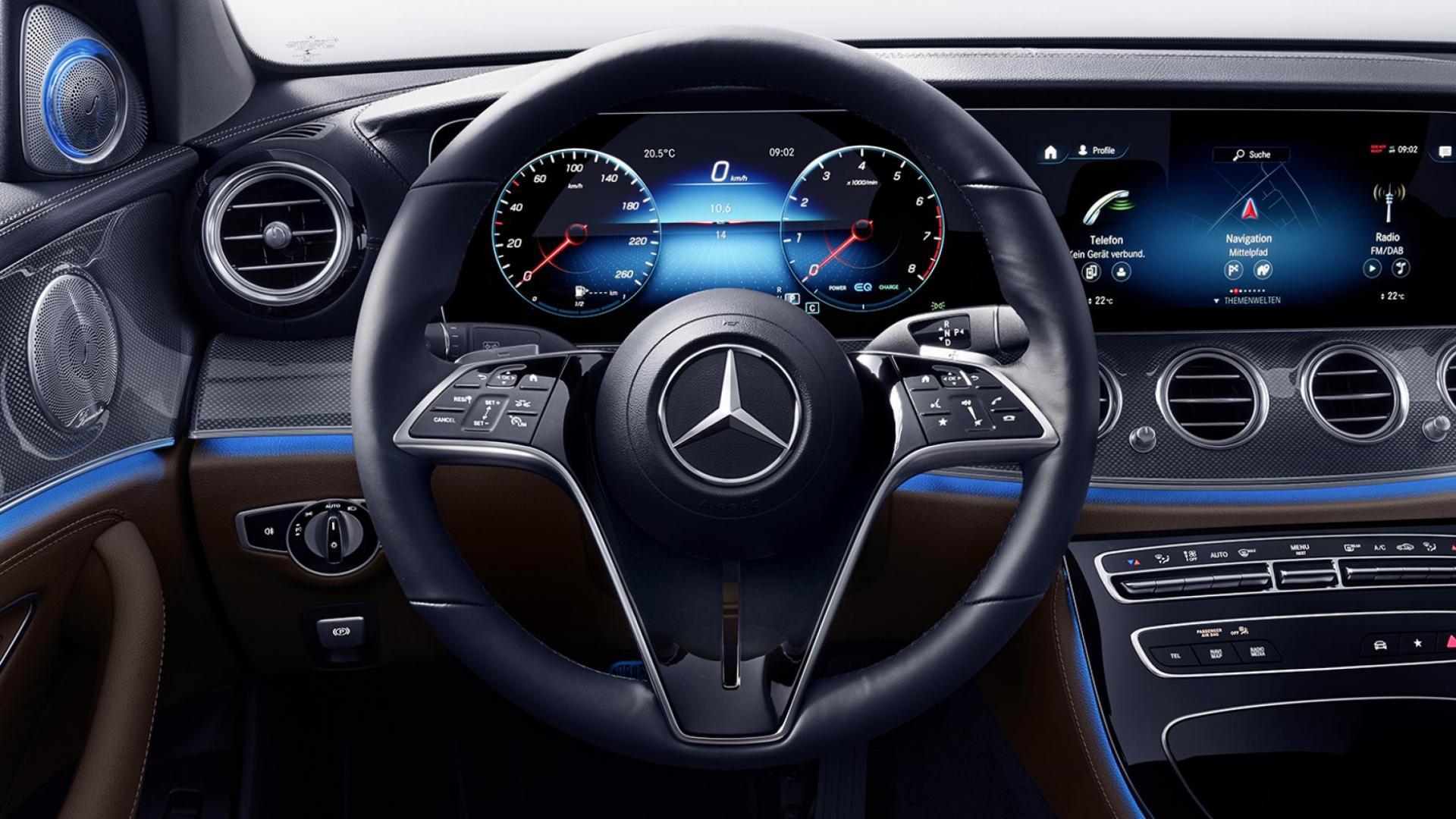Stuur van de Mercedes E-klasse