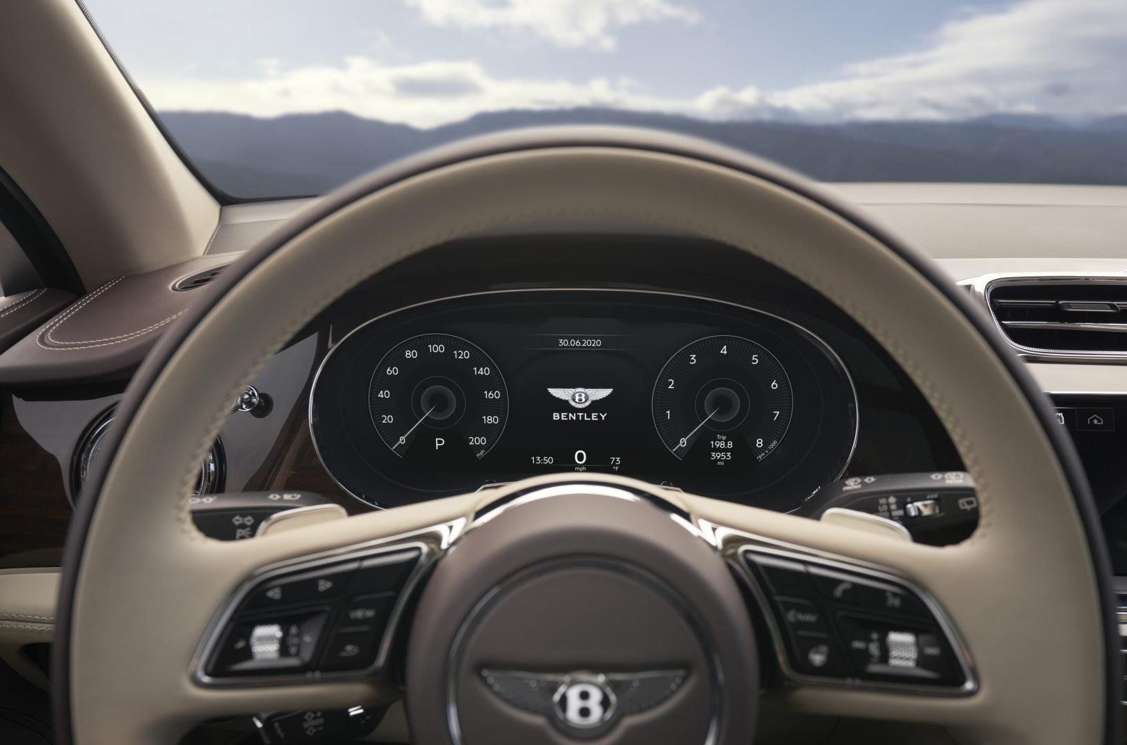 Instrumentarium Bentley Bentayga Facelift 2020