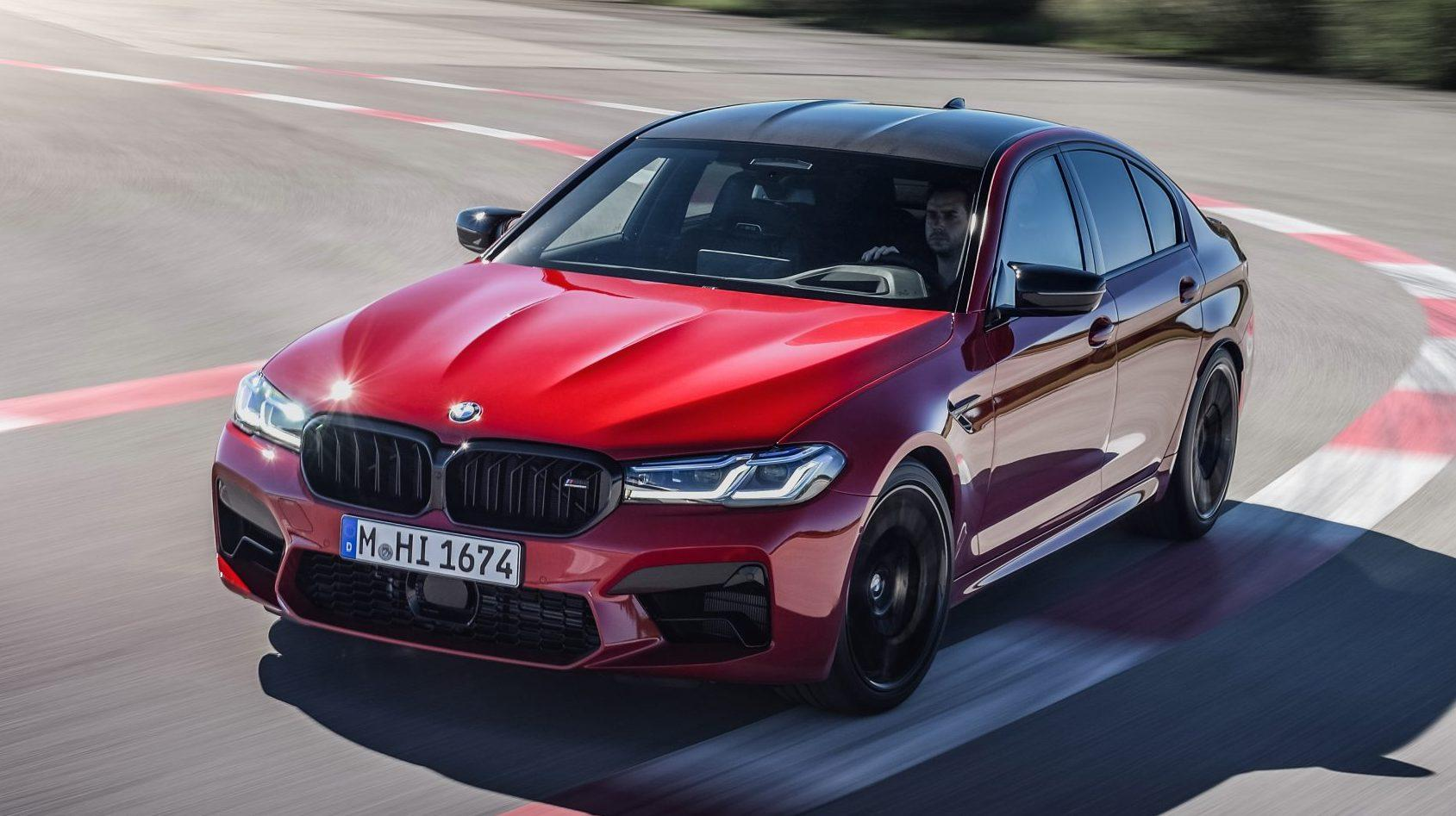 BMW M5 Competition 2020 Facelift (G30) op het circuit