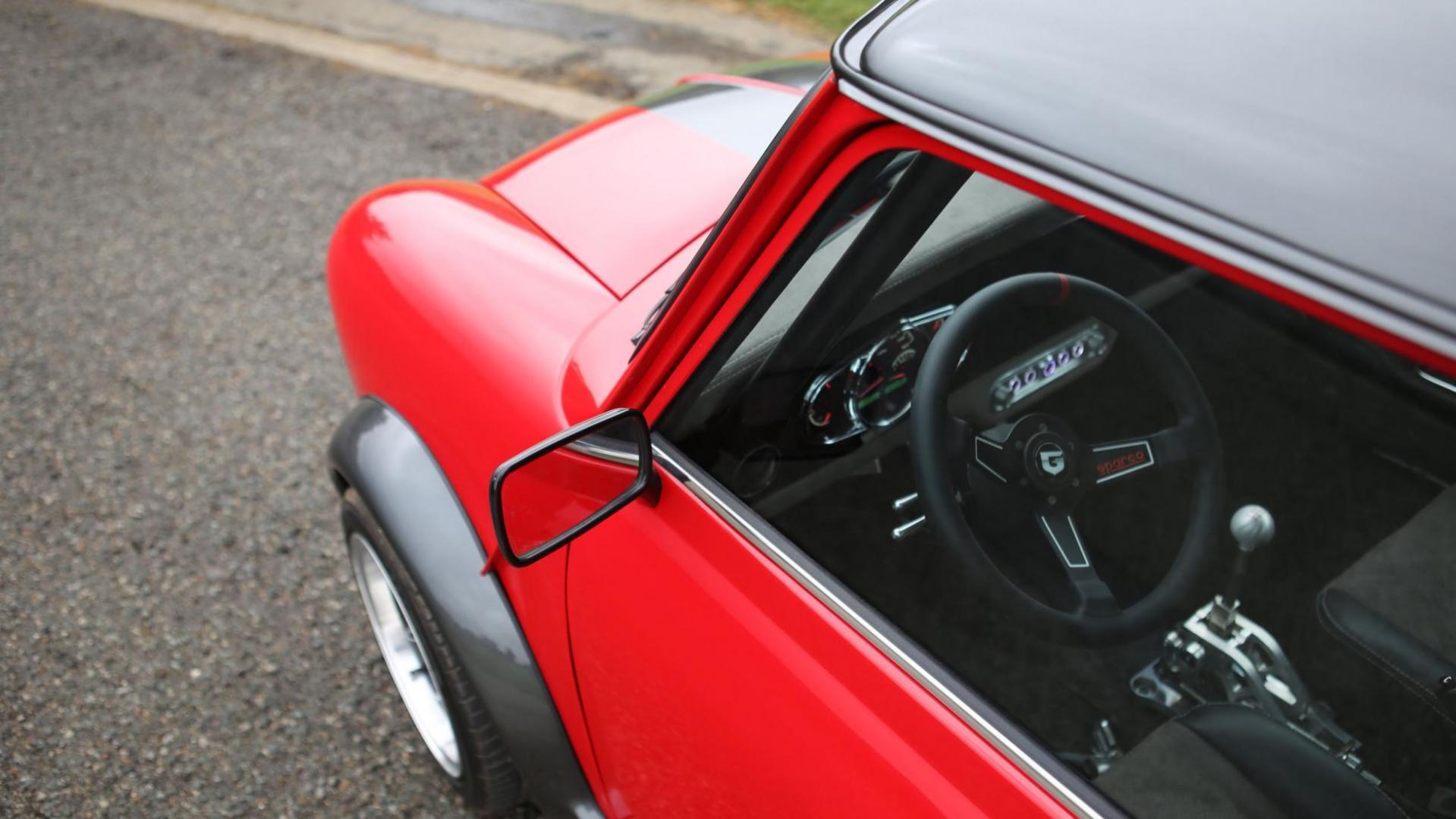 Stuur en zijspiegel Mini Super Cooper S