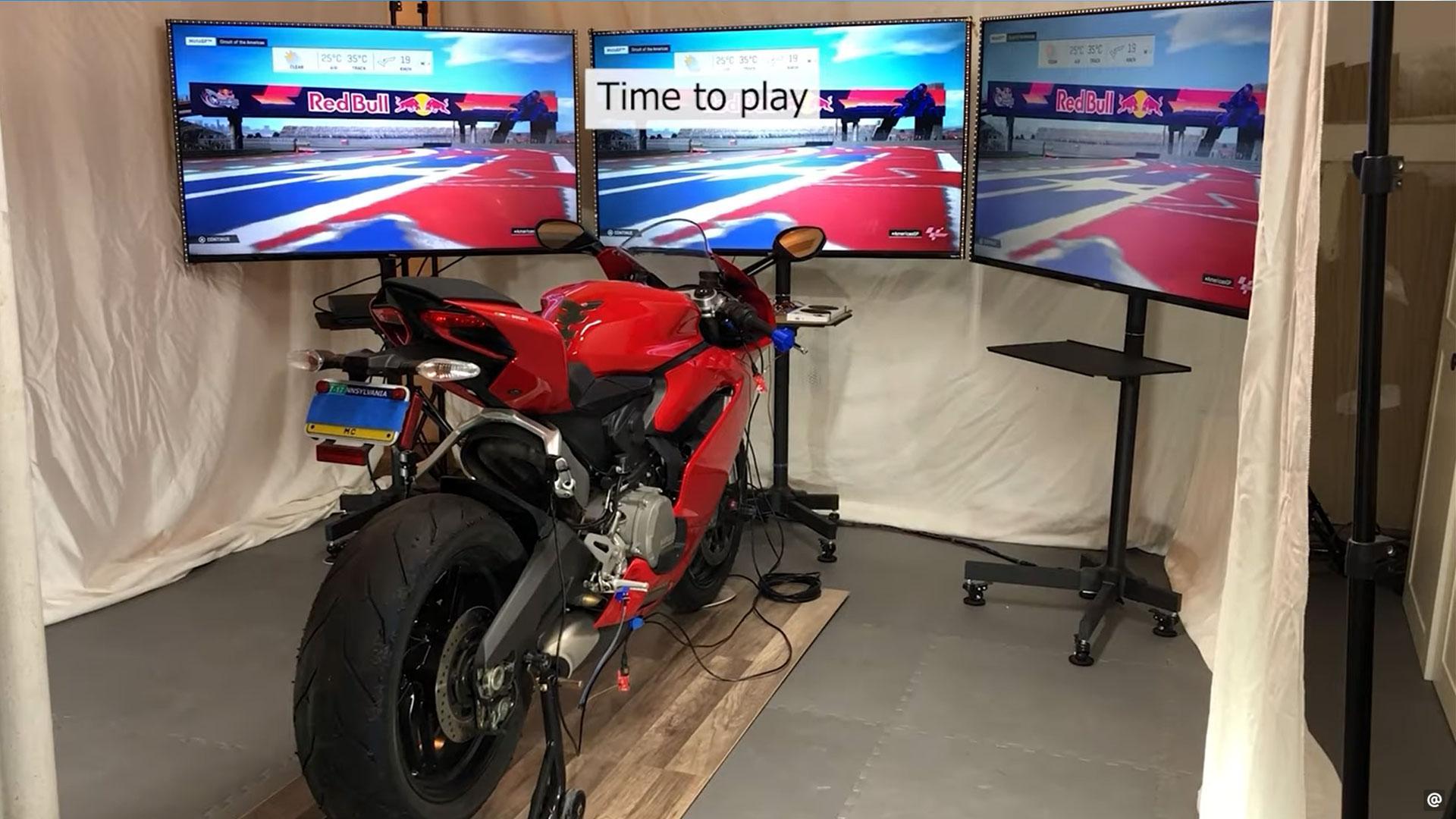 zelf motorfiets-simulator maken