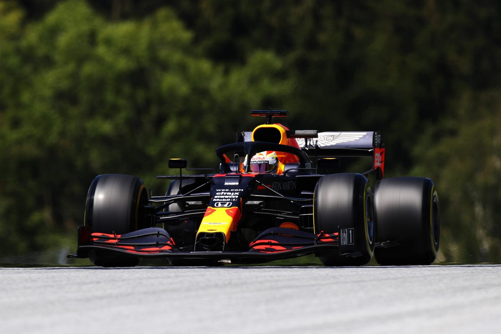 1e vrije training van de tweede GP van Oostenrijk 2020