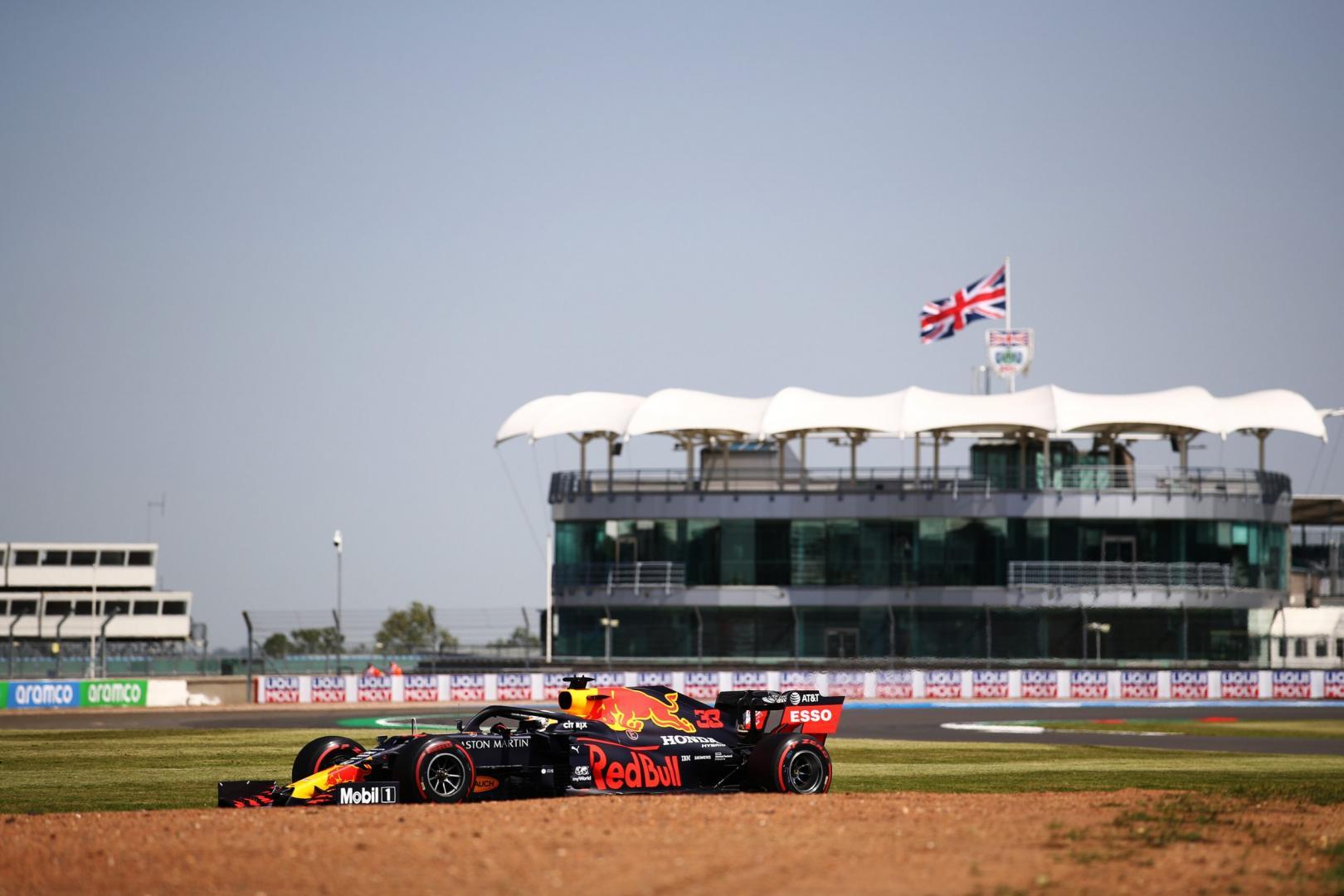 2e vrije training van de GP van Groot-Brittannië 2020