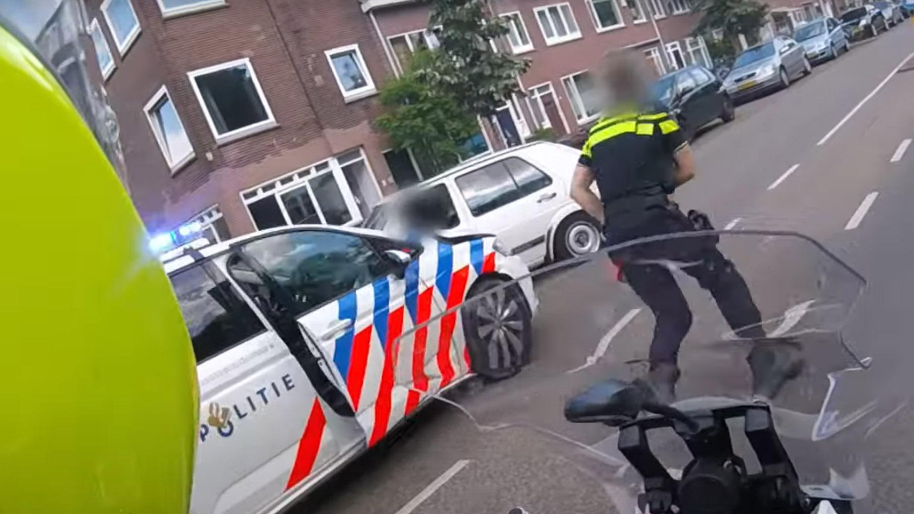 Oude Golf vlucht voor politie in Utrecht