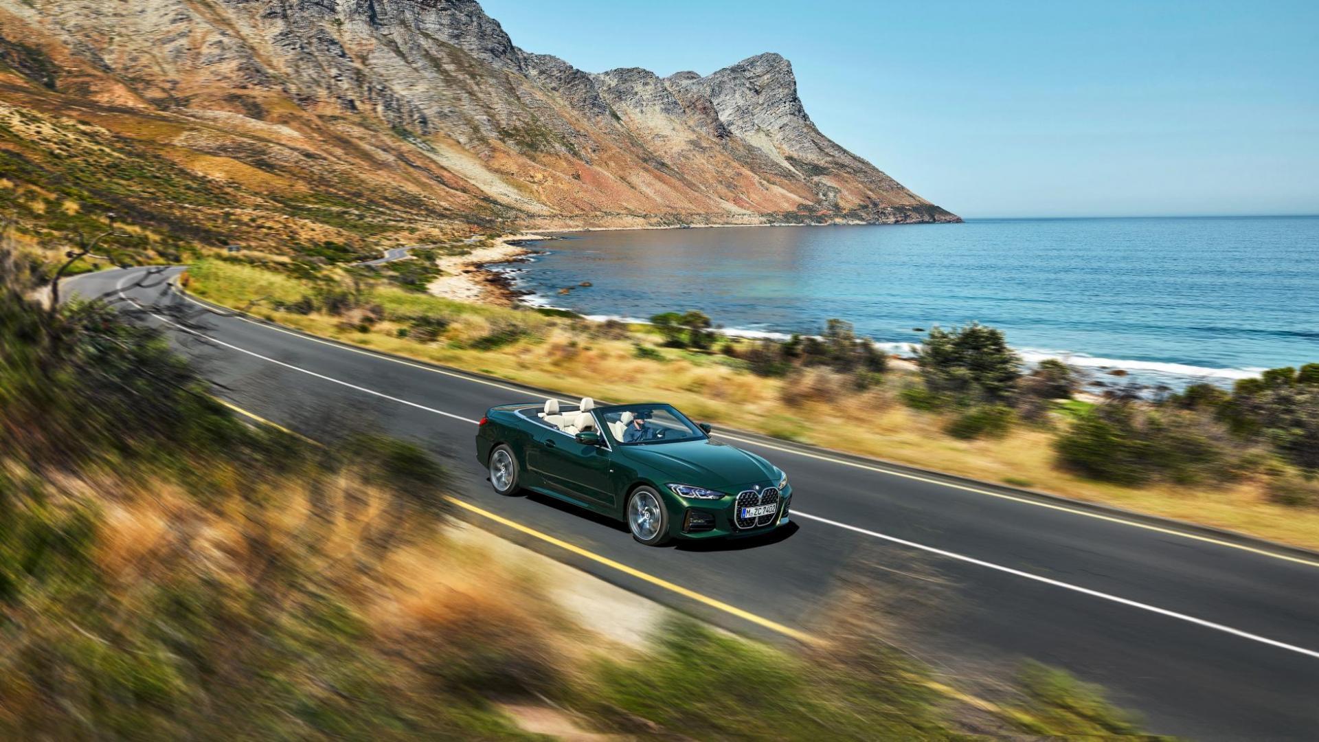 BMW 4-serie Cabrio 2020 in de bocht