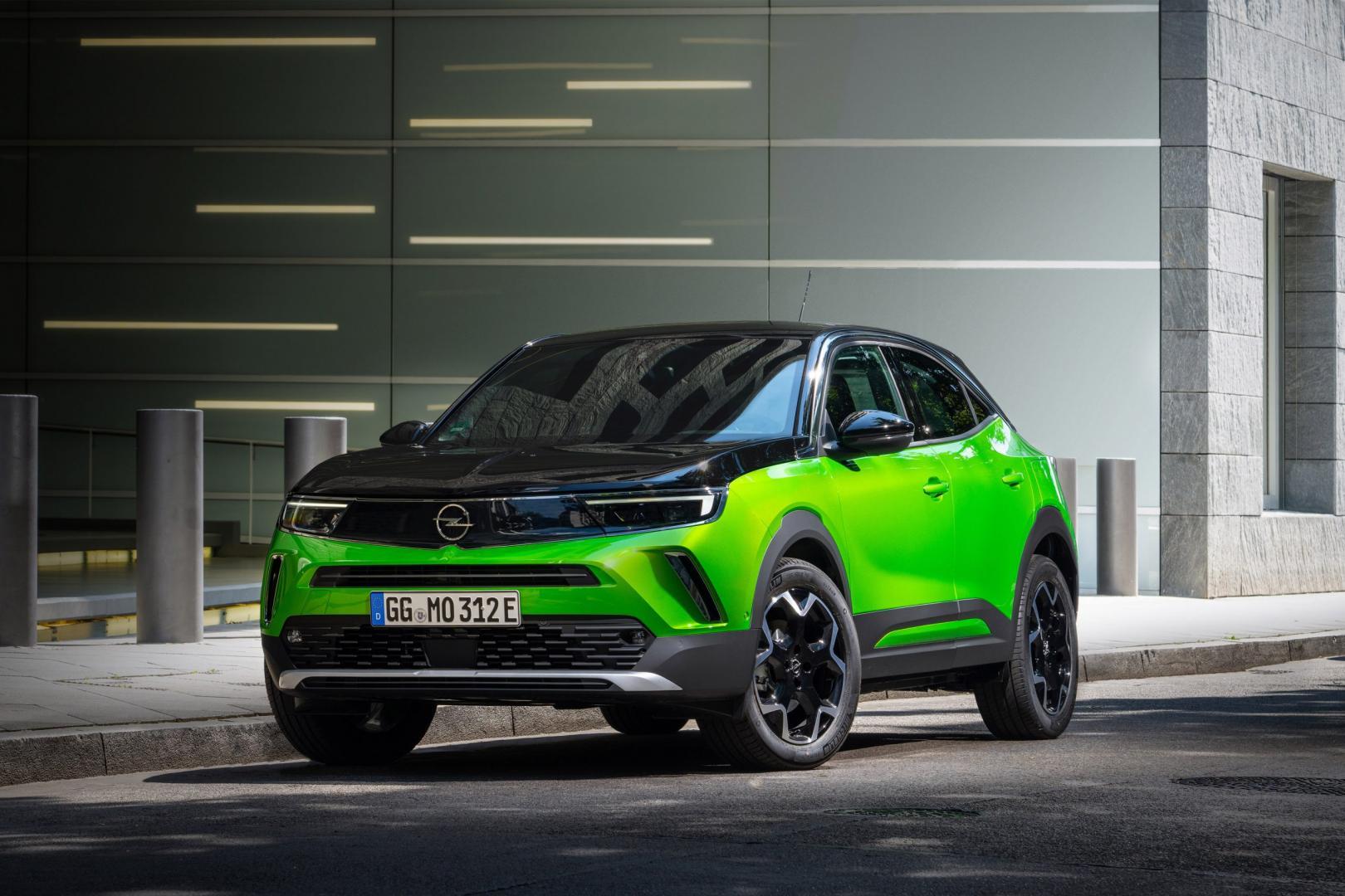 elektrische Opel Mokka-e (groen)