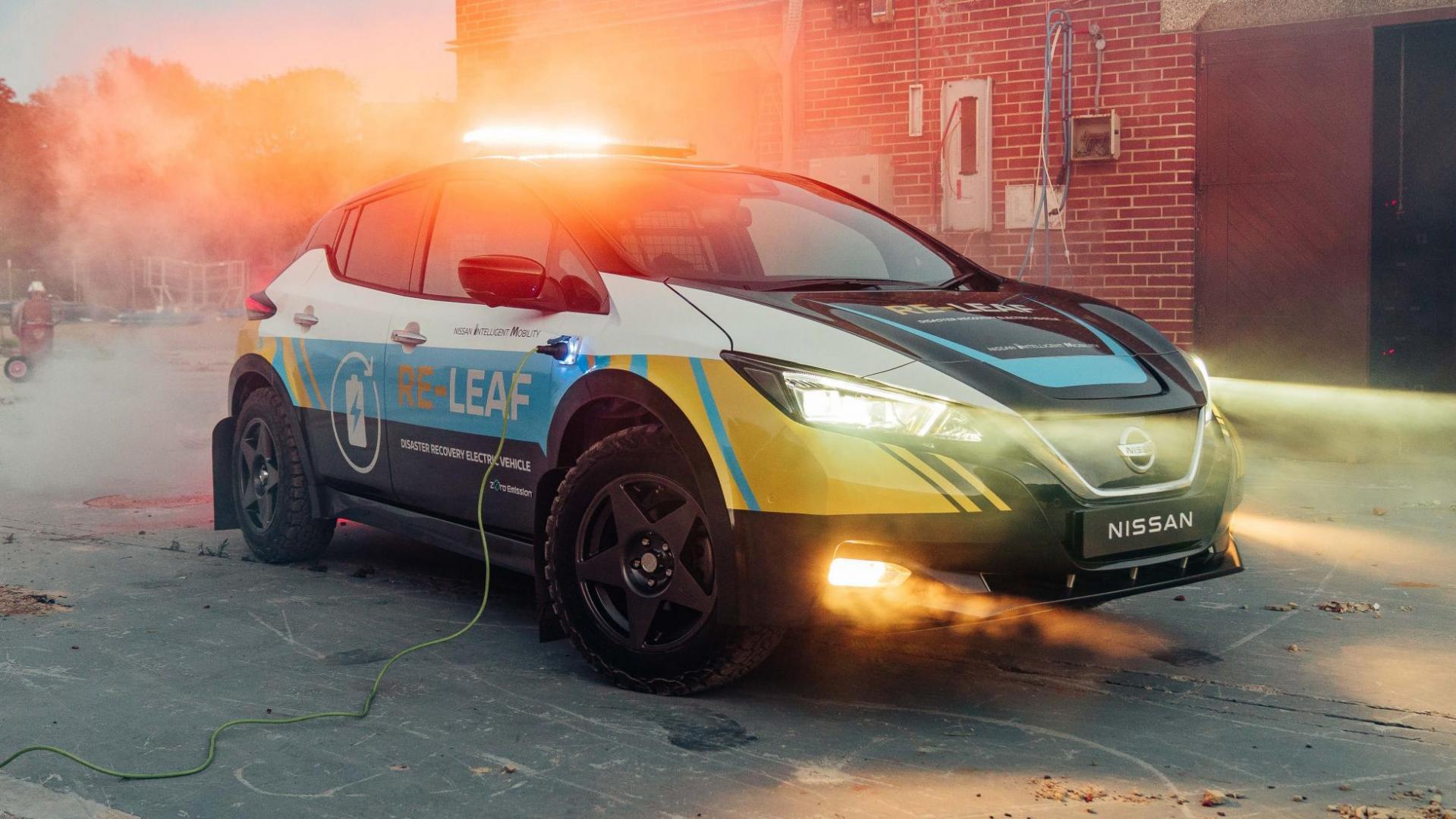 Nissan Re-Leaf is een reddingsvoertuig