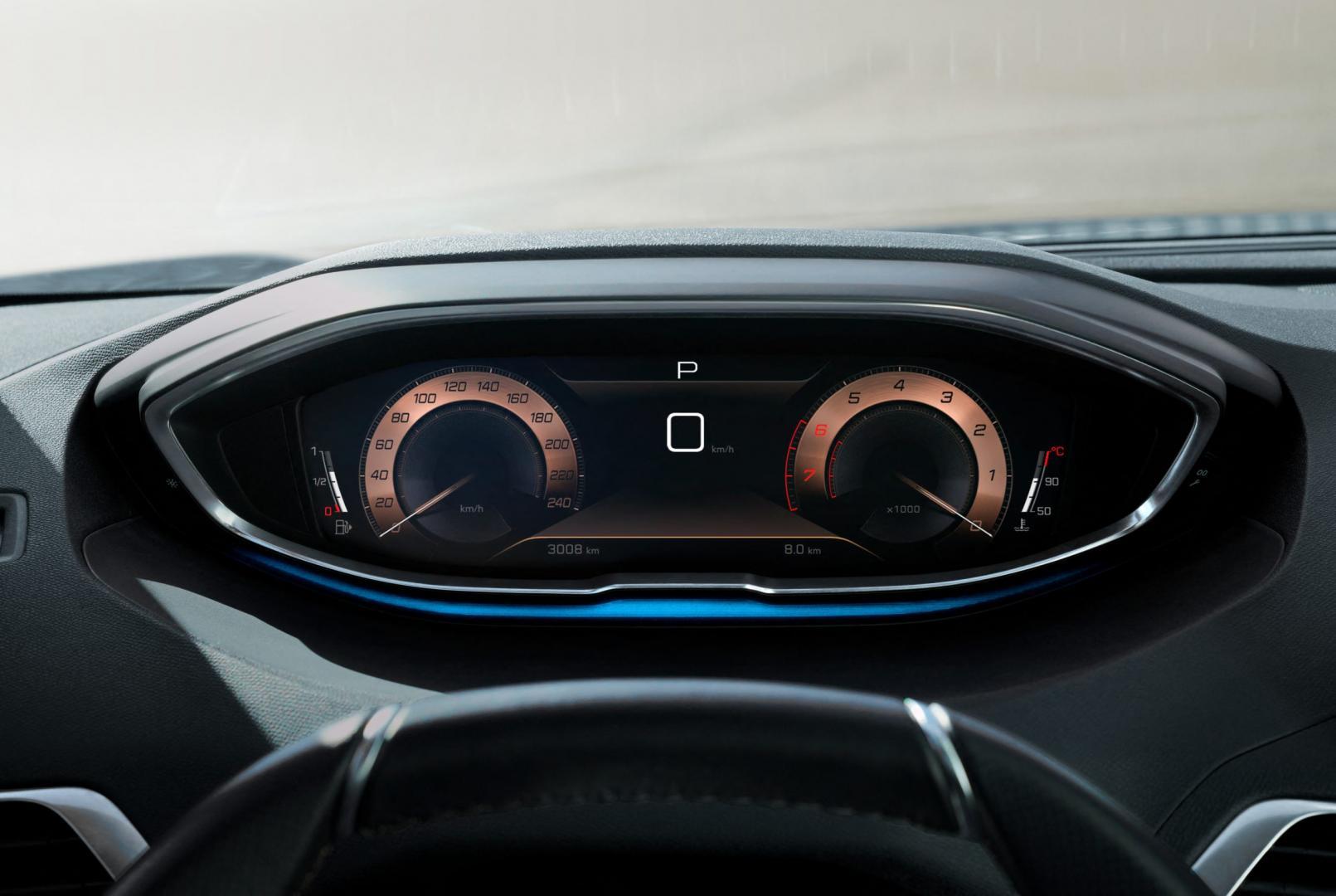 Scherm en tellers Peugeot 3008 facelift 2020