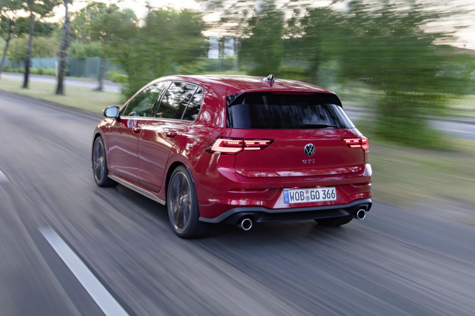 Achterkant Volkswagen Golf VIII GTI 2020