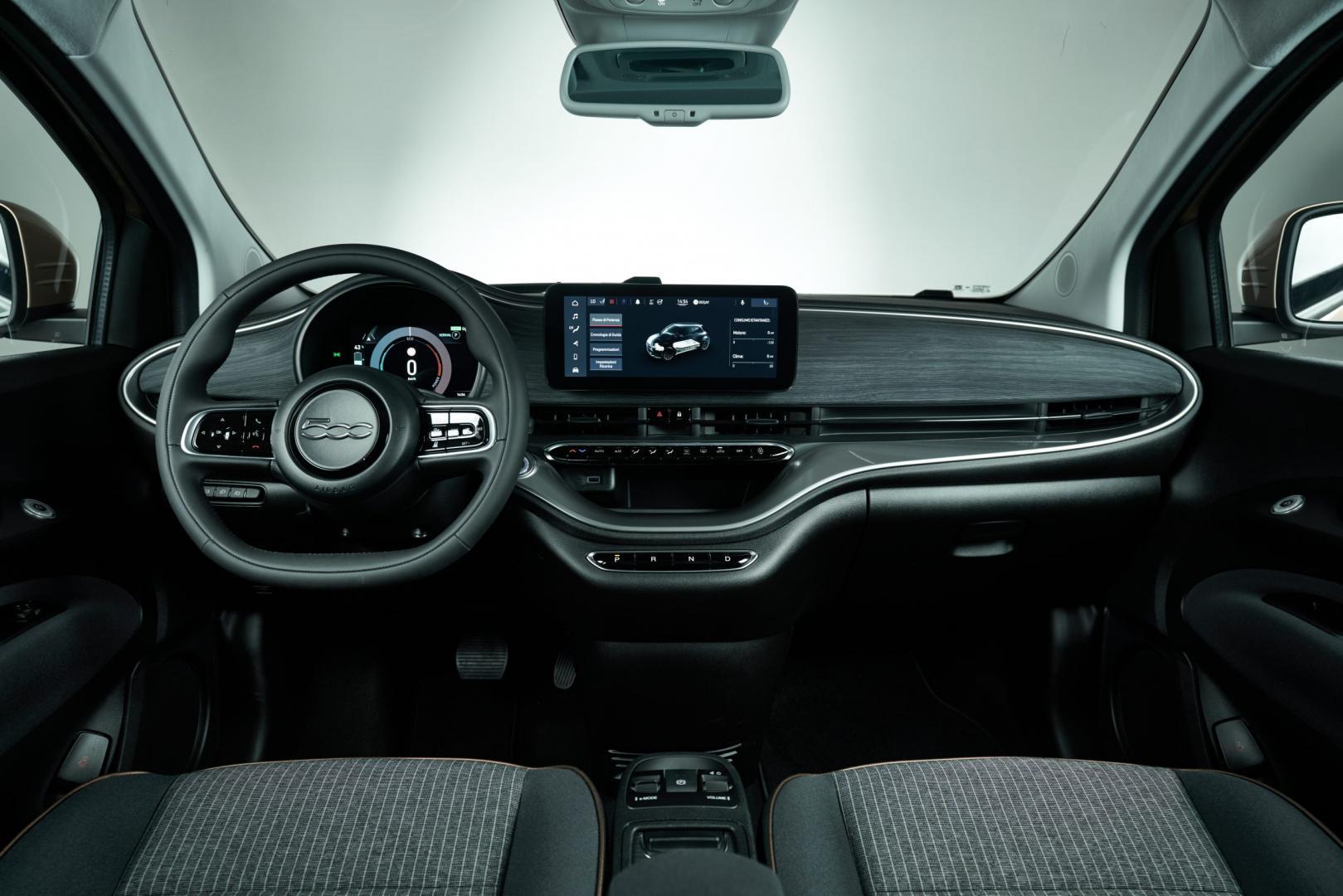 Interieur New Fiat 500 elektrisch
