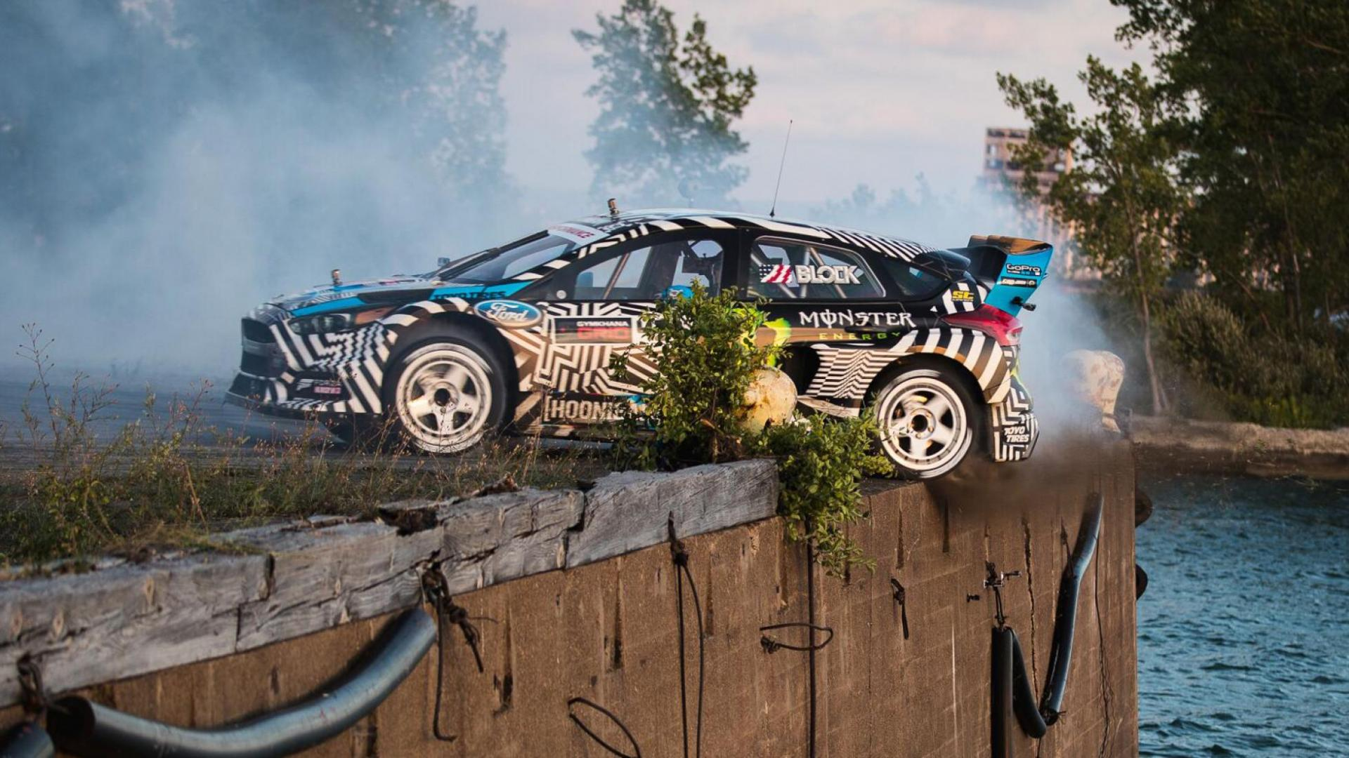 Ford Focus van Ken Block in Gymkhana Nine
