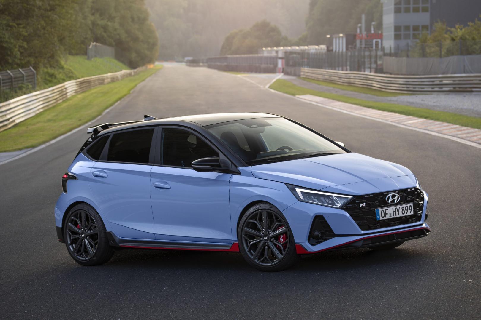 zijkant Hyundai i20 n 2020