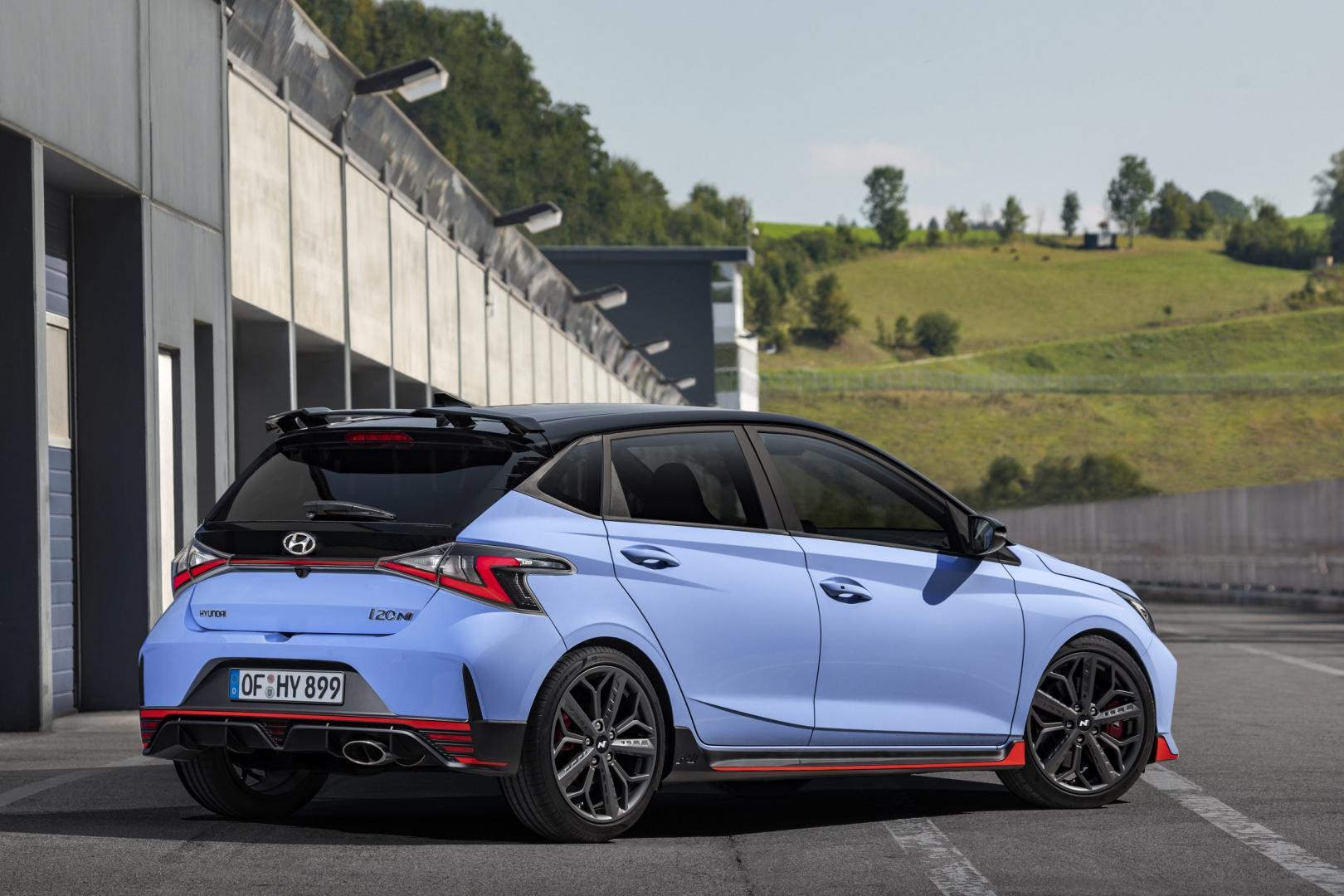 Achterkant Hyundai i20 n 2020