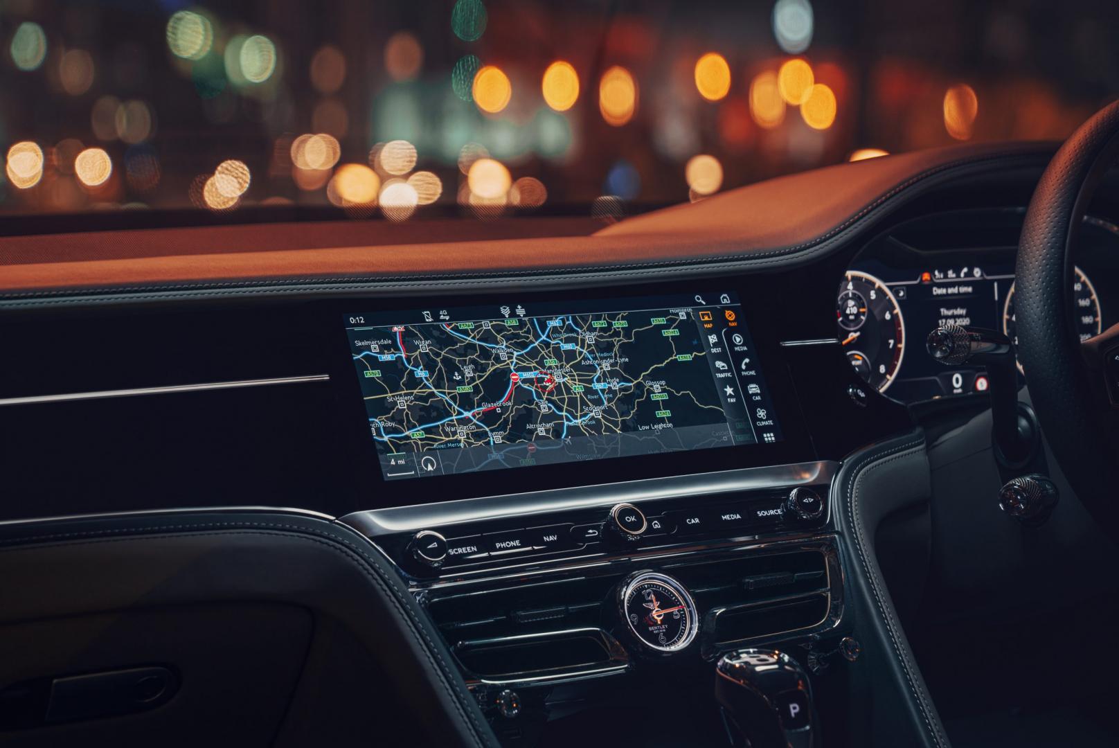 Interieur en navigatie Bentley Flying Spur 2020