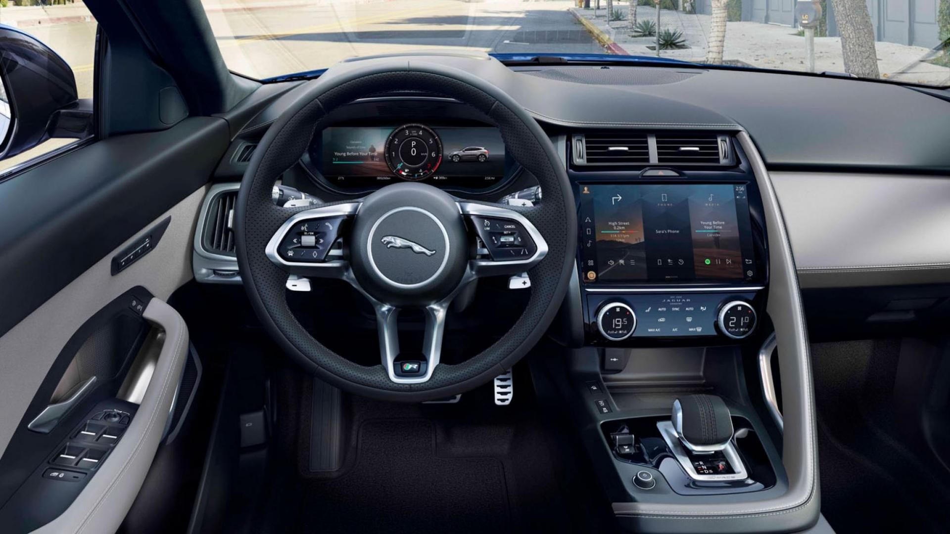 Interieur en stuur Jaguar E-Pace facelift 2020
