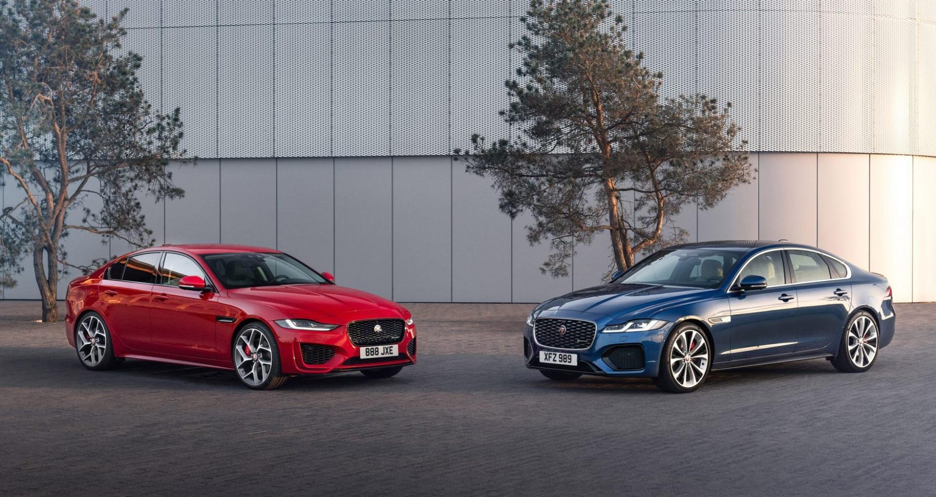 Jaguar XE en XF facelift 2020
