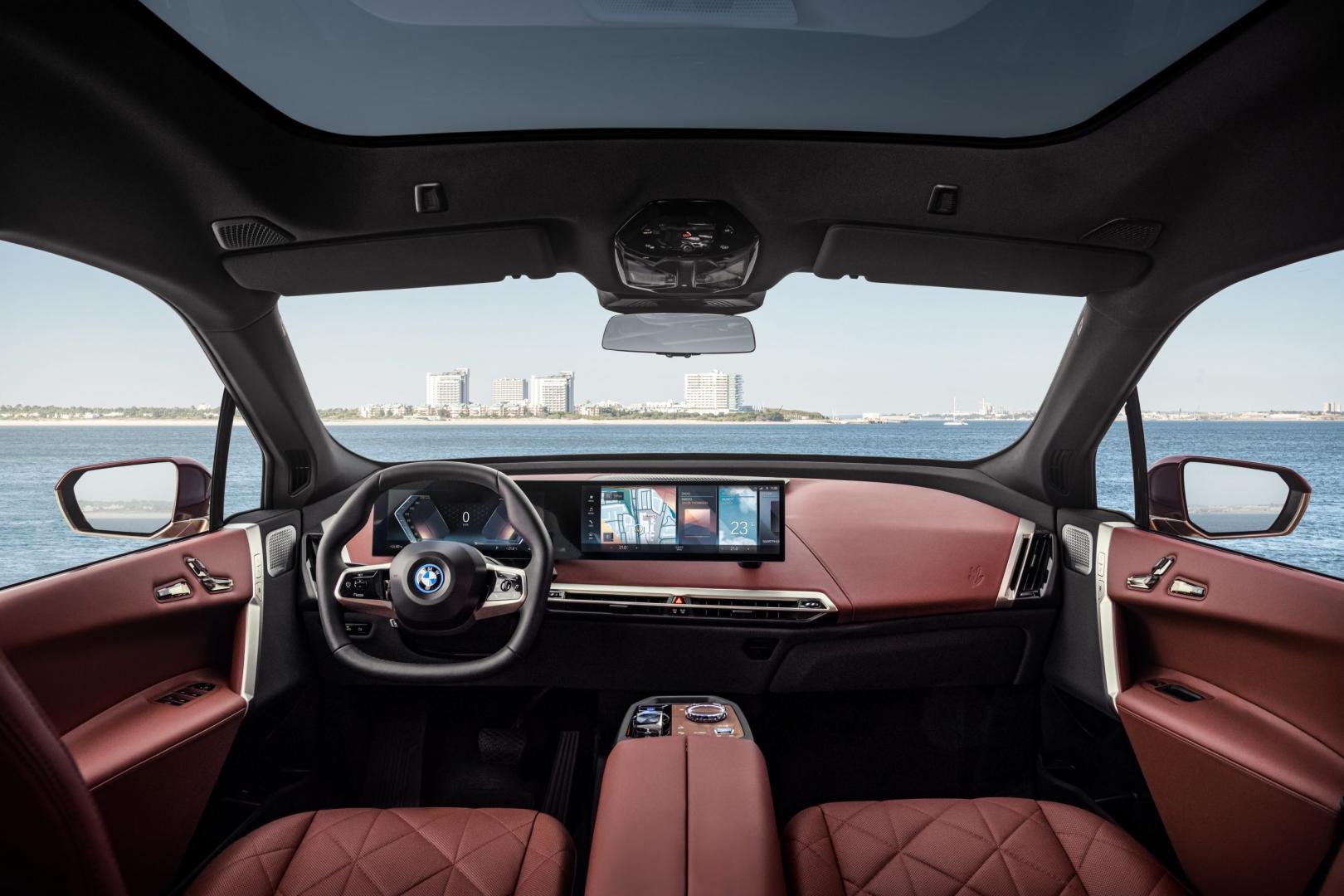 Elektrische BMW ix 2021 interieur