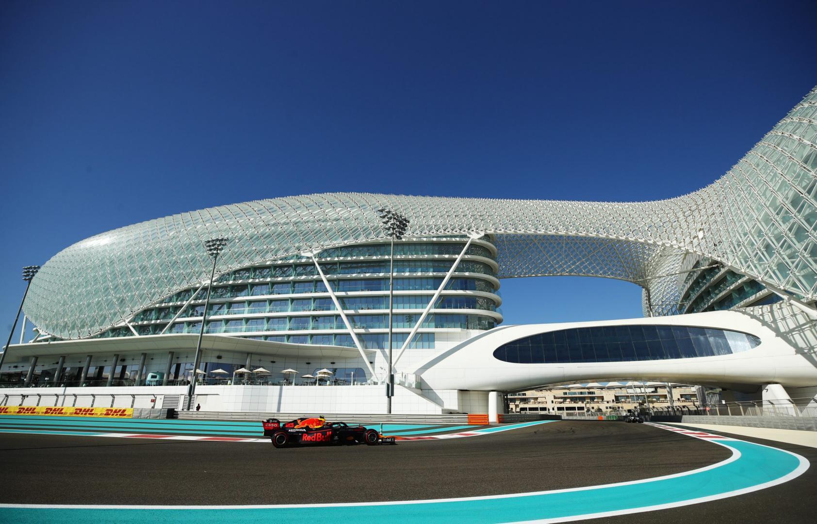 3e vrije training van de GP van Abu Dhabi 2020